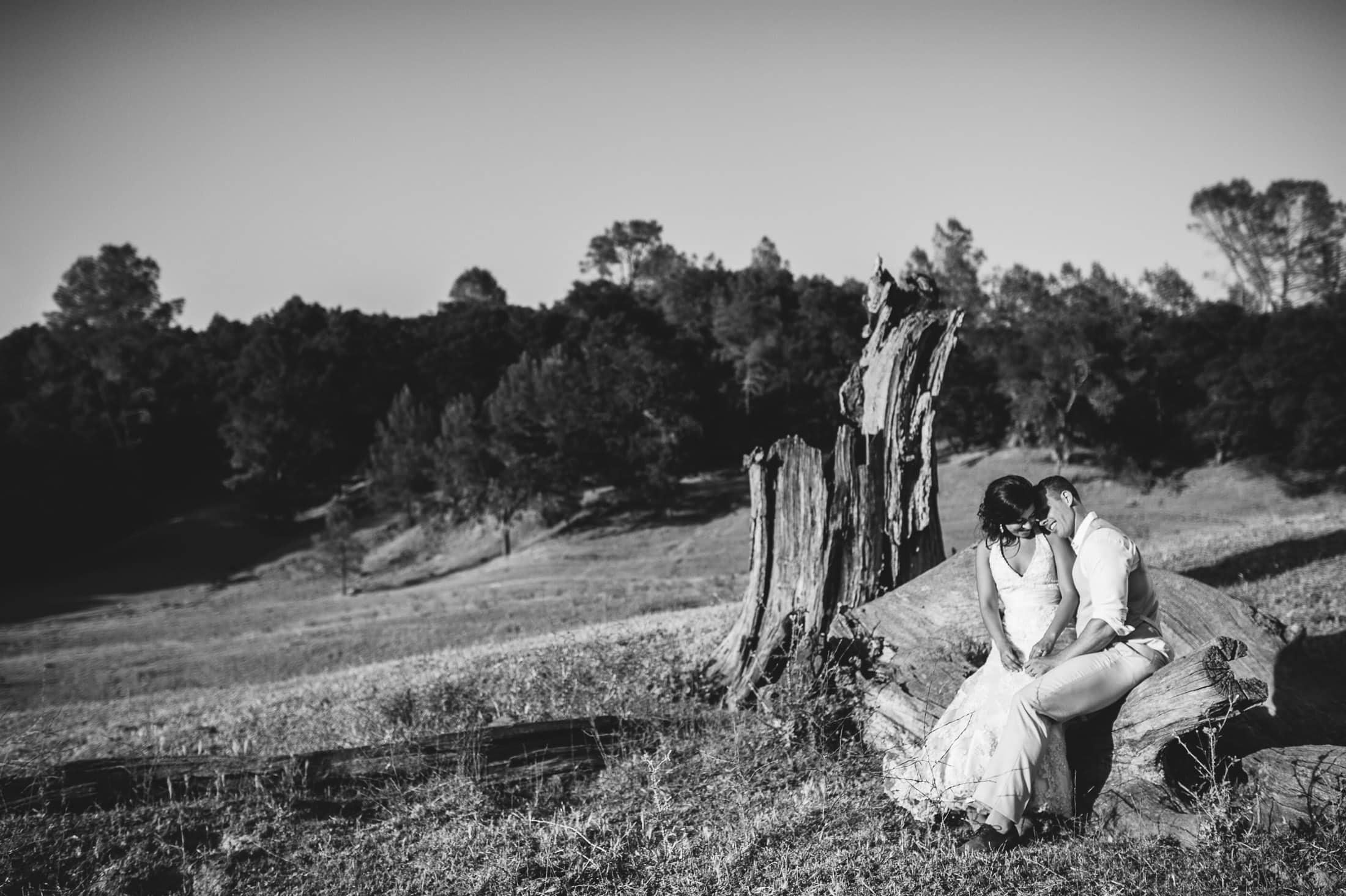 fun napa ranch wedding couple portrait