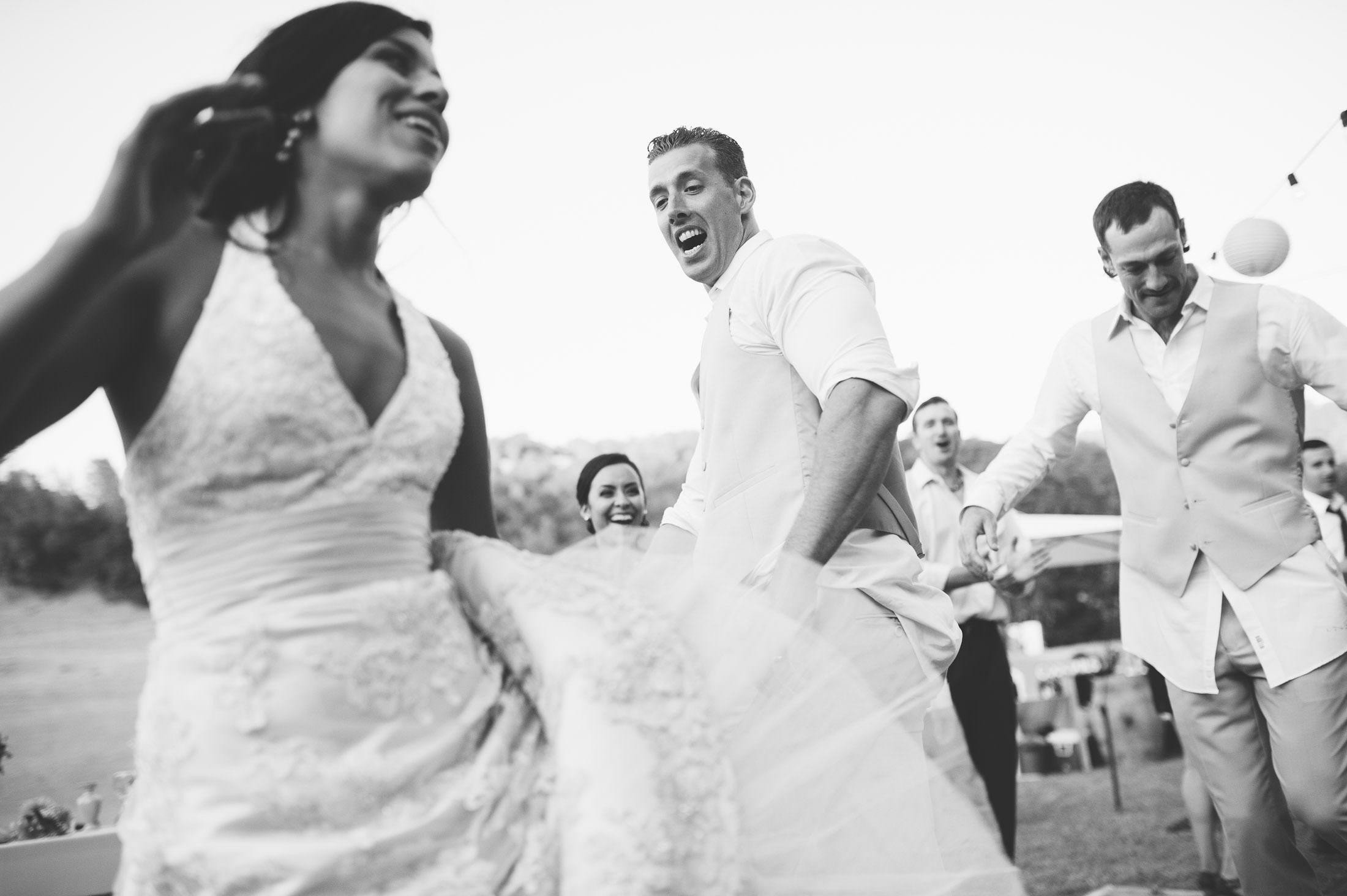 fun napa ranch wedding dance party