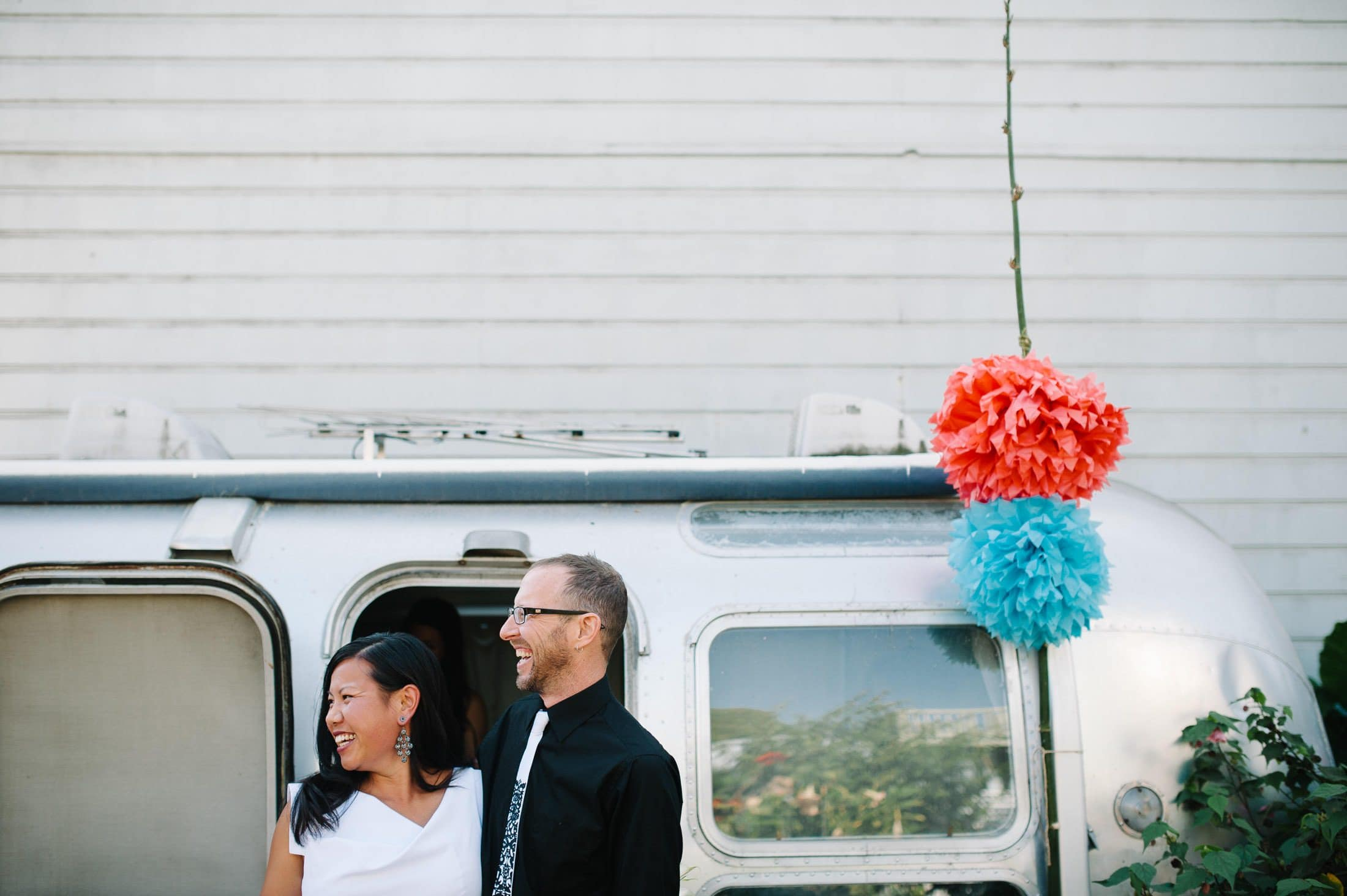 back yard oakland wedding with airstream