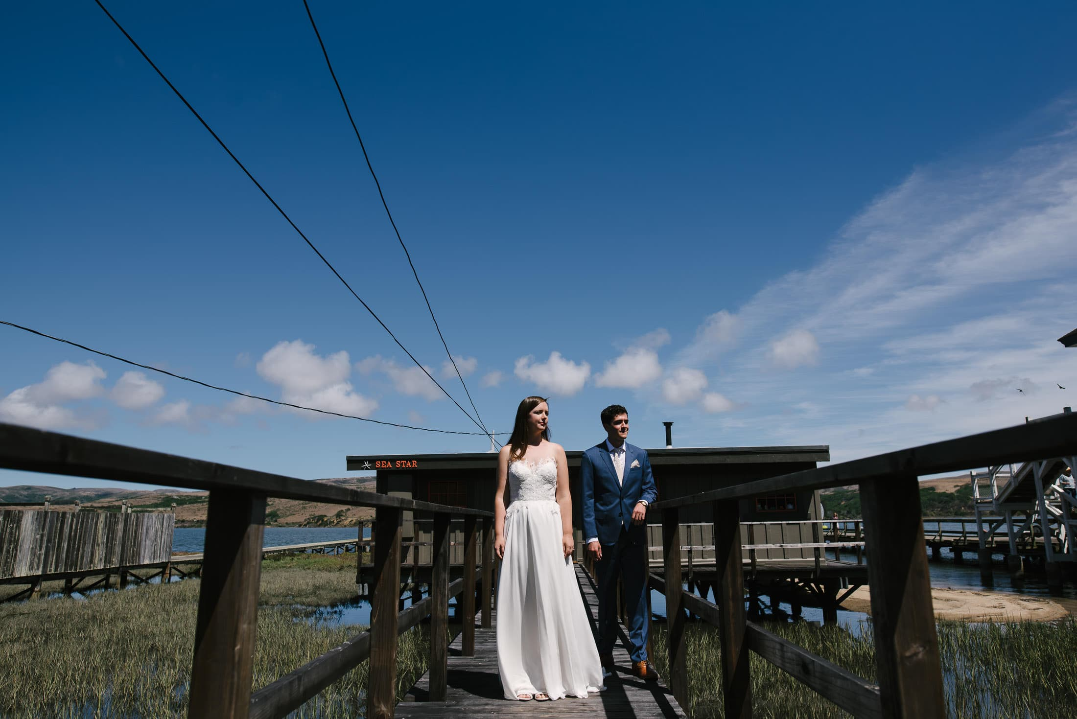 wedding portrait at sea star in inverness