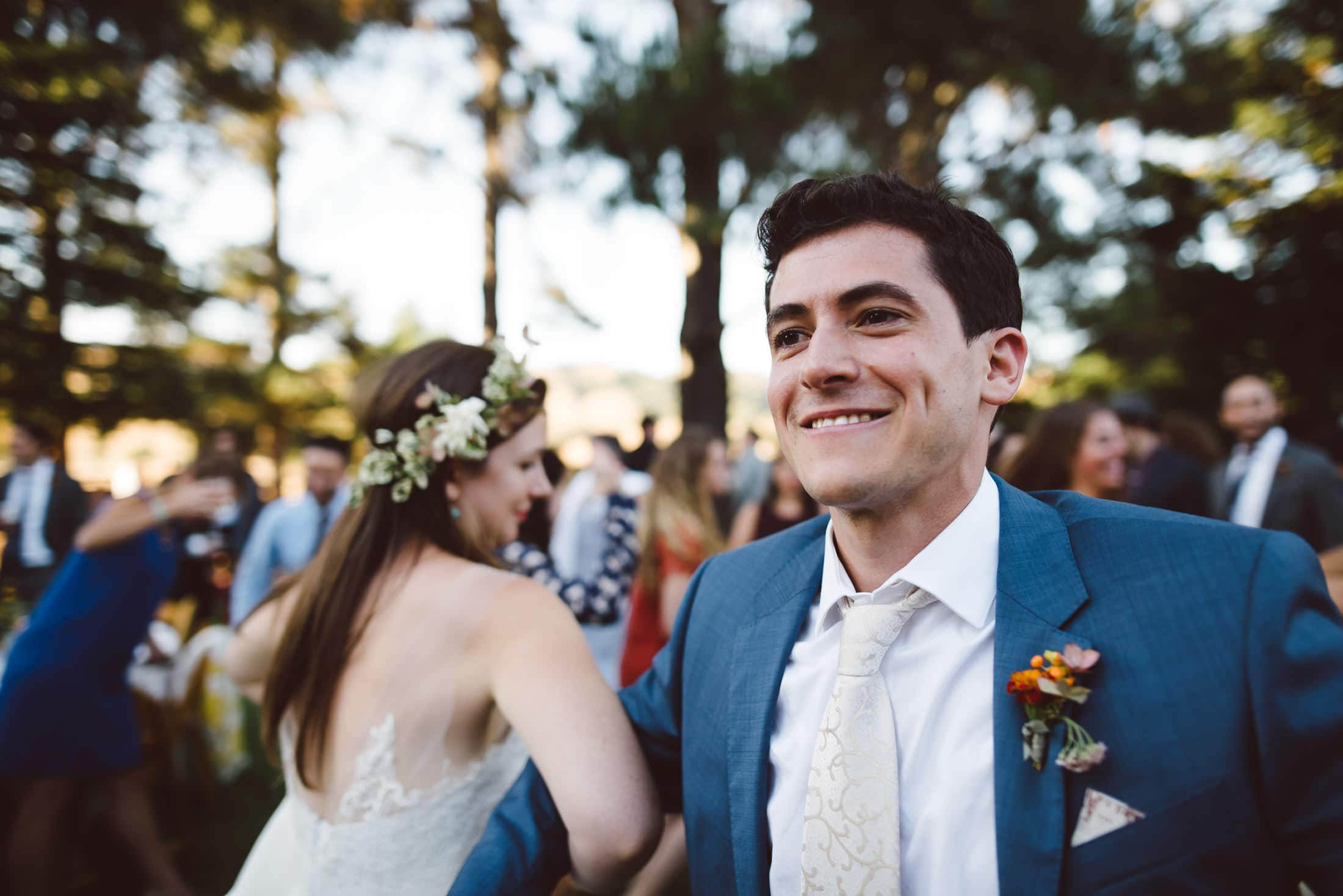 wedding ceremony at rancho nicasio in marin