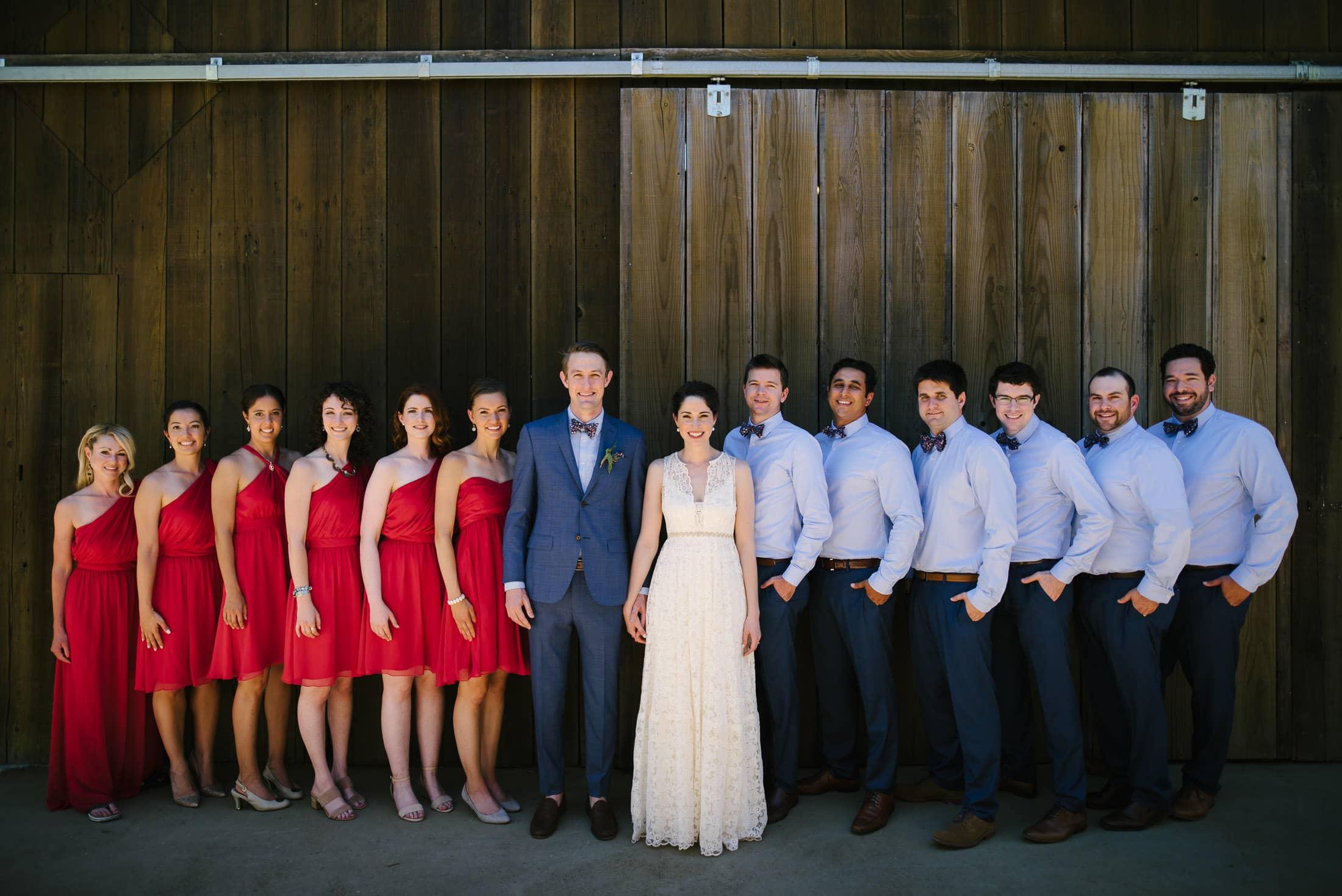Ru's Farm Wedding Wedding Party
