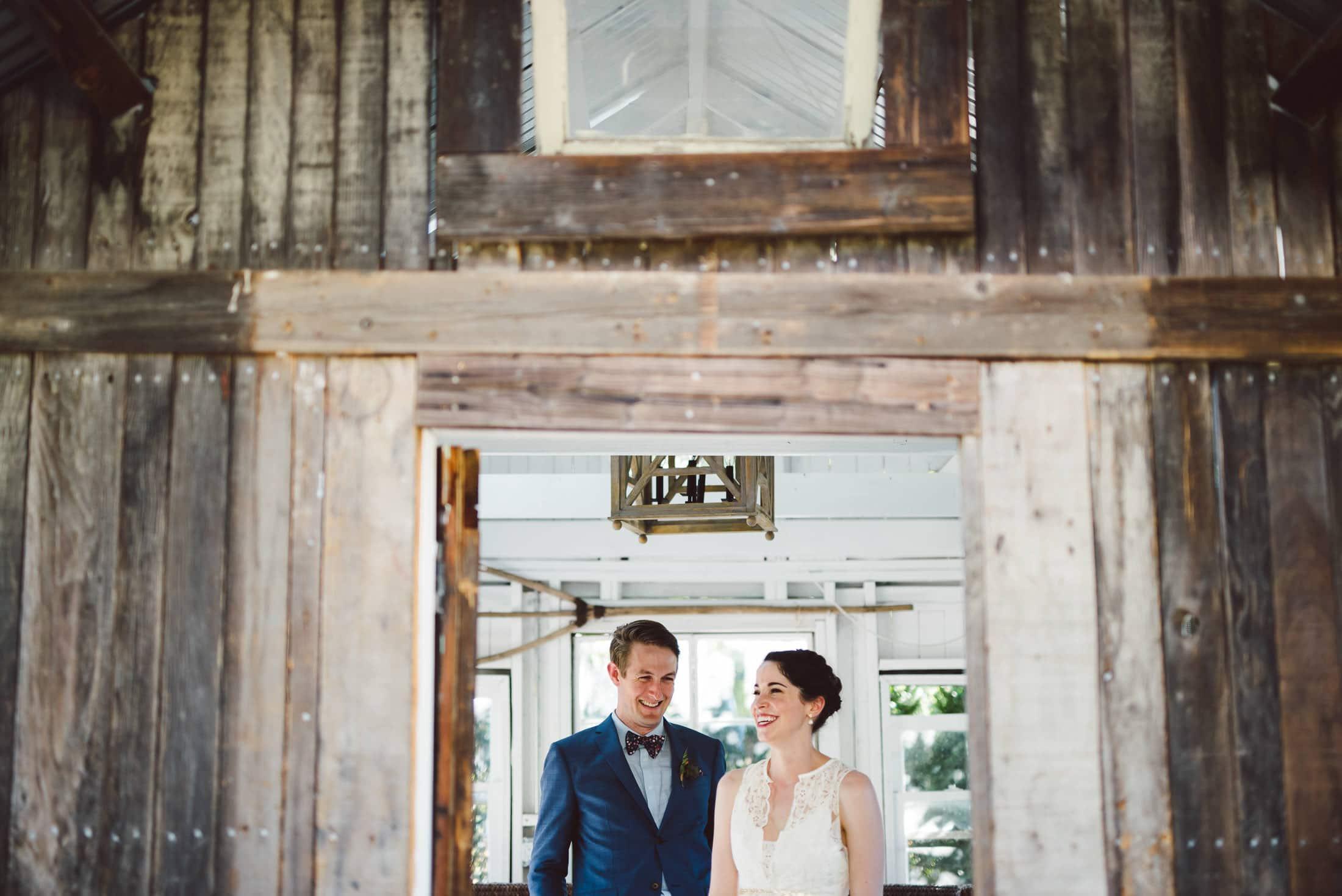 Ru's Farm Wedding Couple Portrait