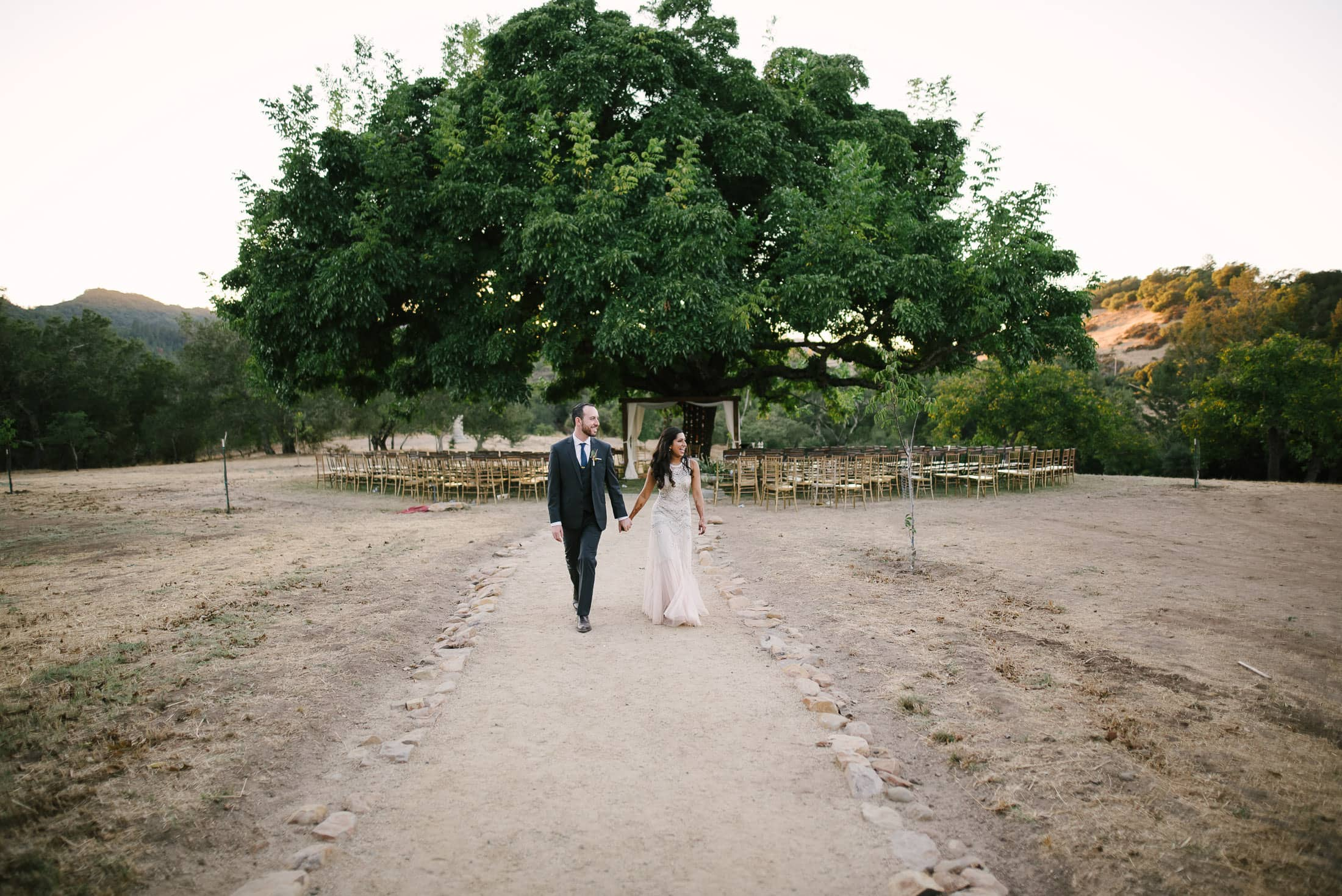 Indian Jewish SSS Ranch Wedding Portrait of couple