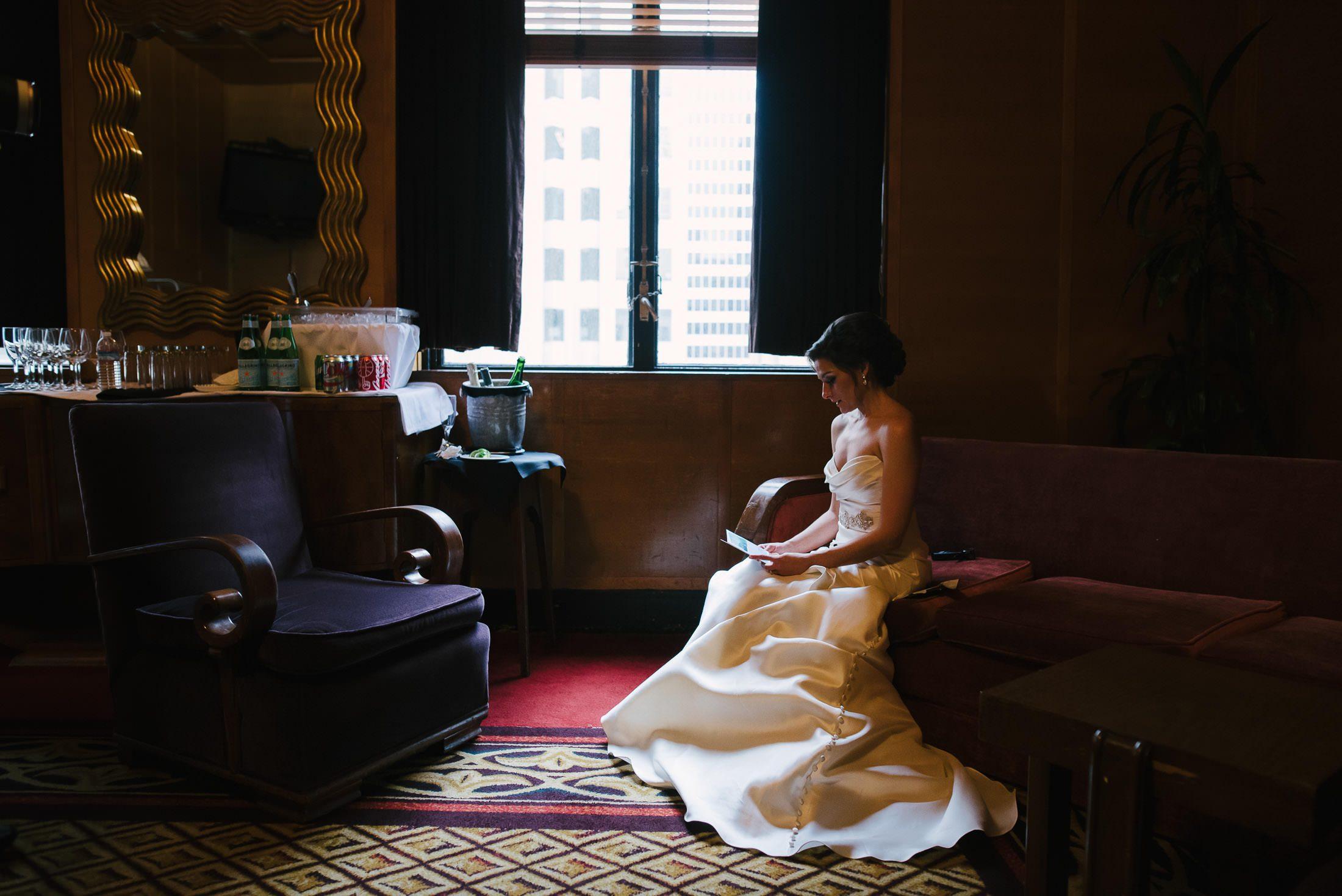 Bride getting ready at SF City Club