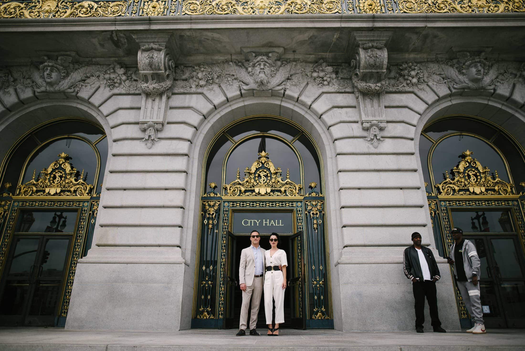 SF City Hall Wedding Front Door