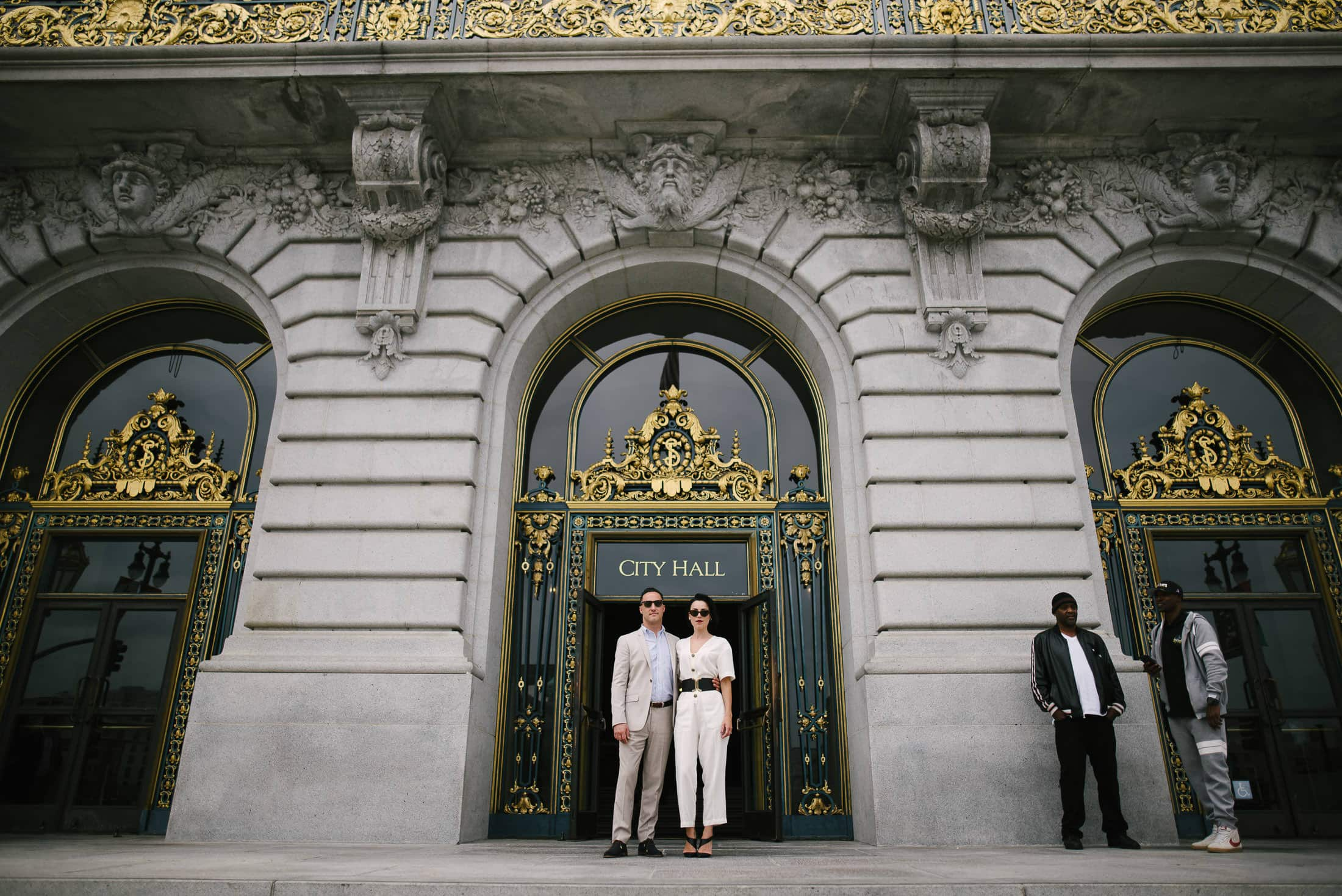 SF City Hall Wedding Front Door