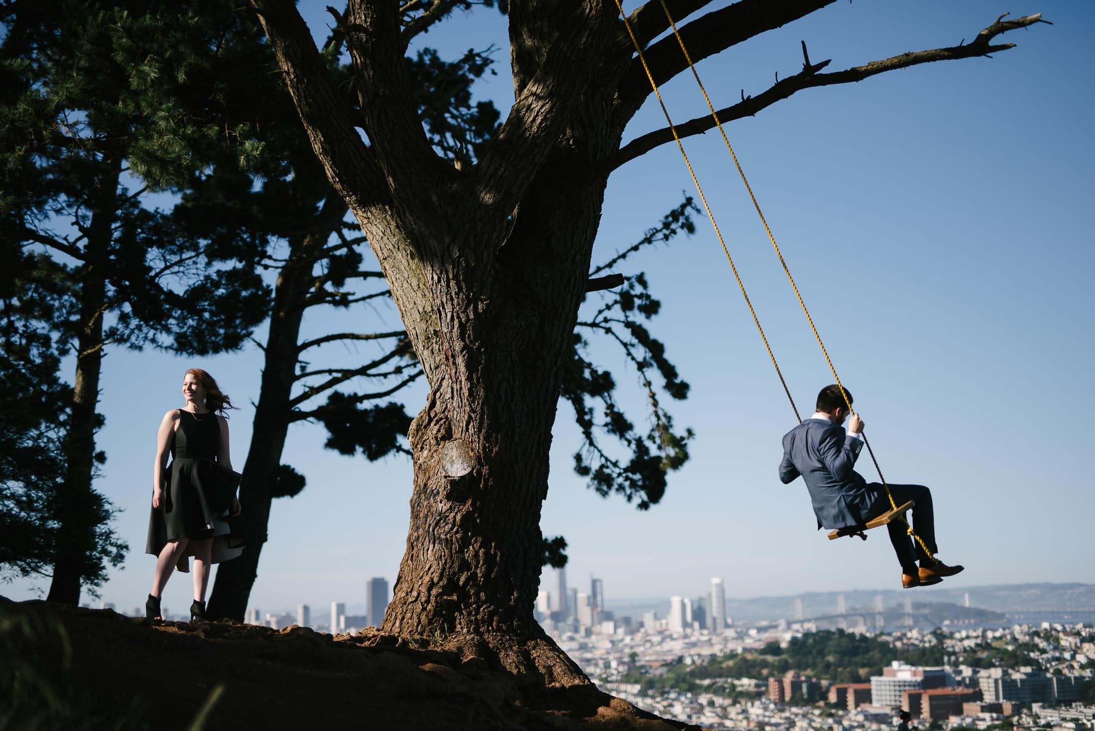 Bernal Hill Wedding Portrait