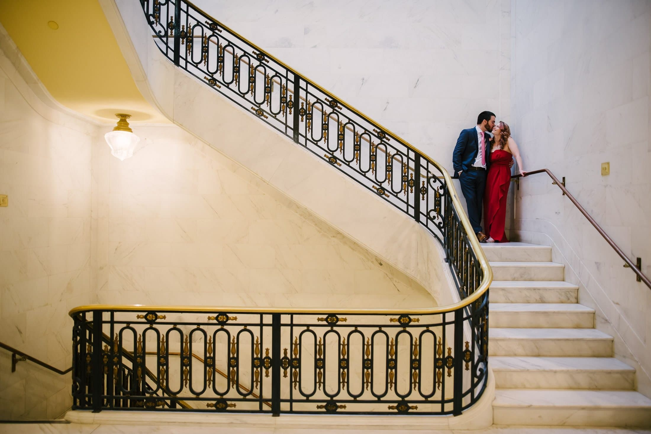 San Francisco City Hall Wedding stairway