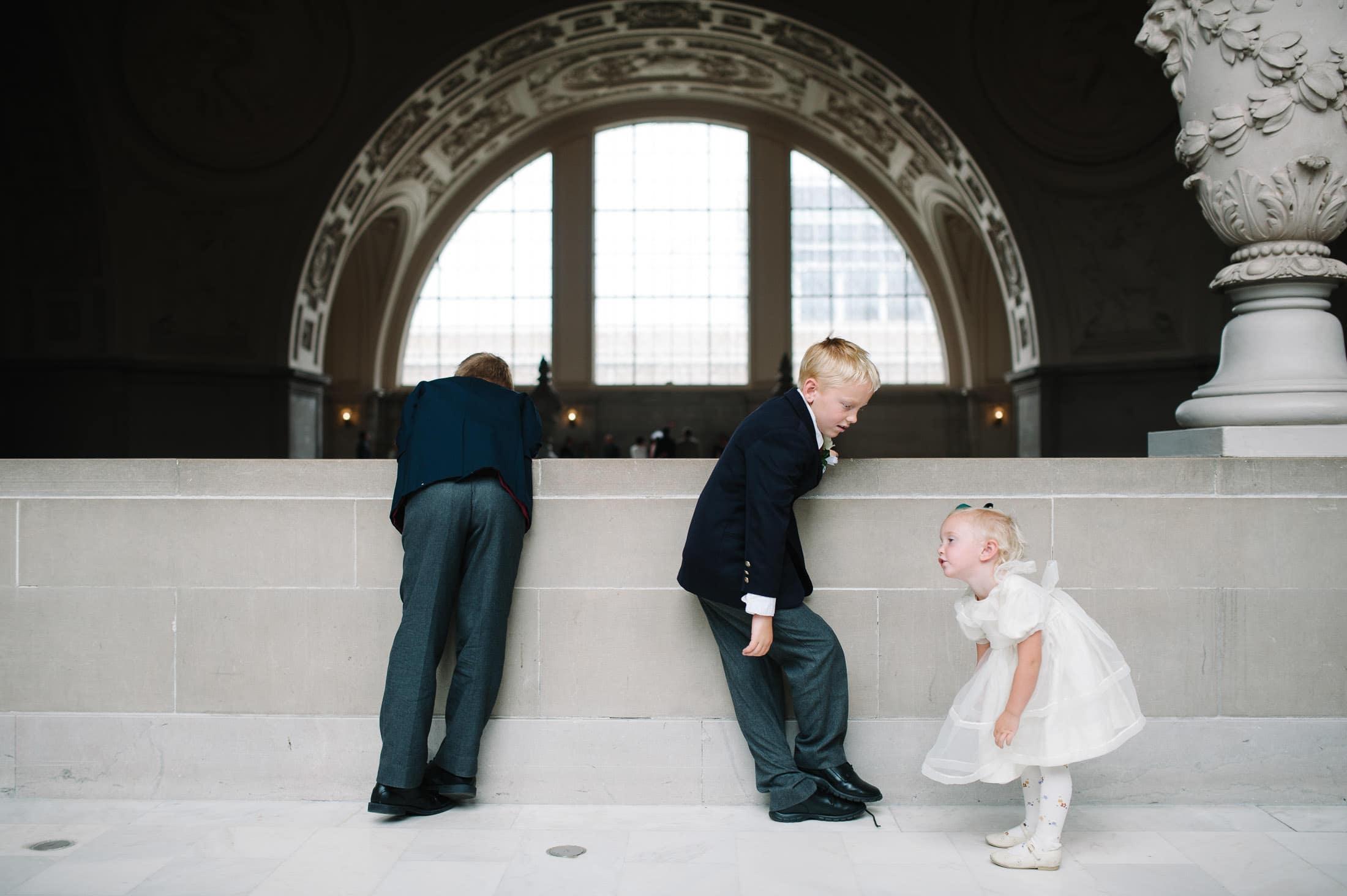 Fun kids at San Francisco City Hall Wedding
