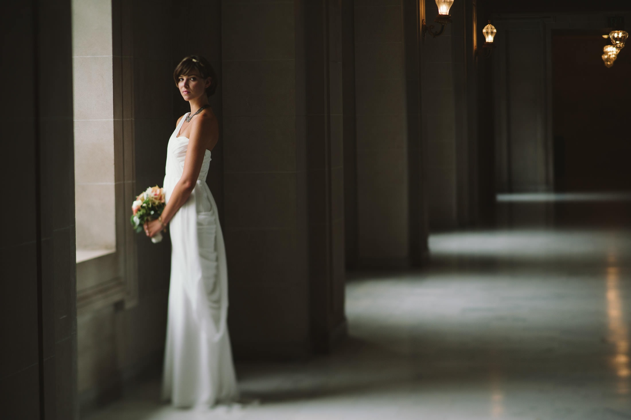 Bridal Portrait at San Francisco City Hall Wedding