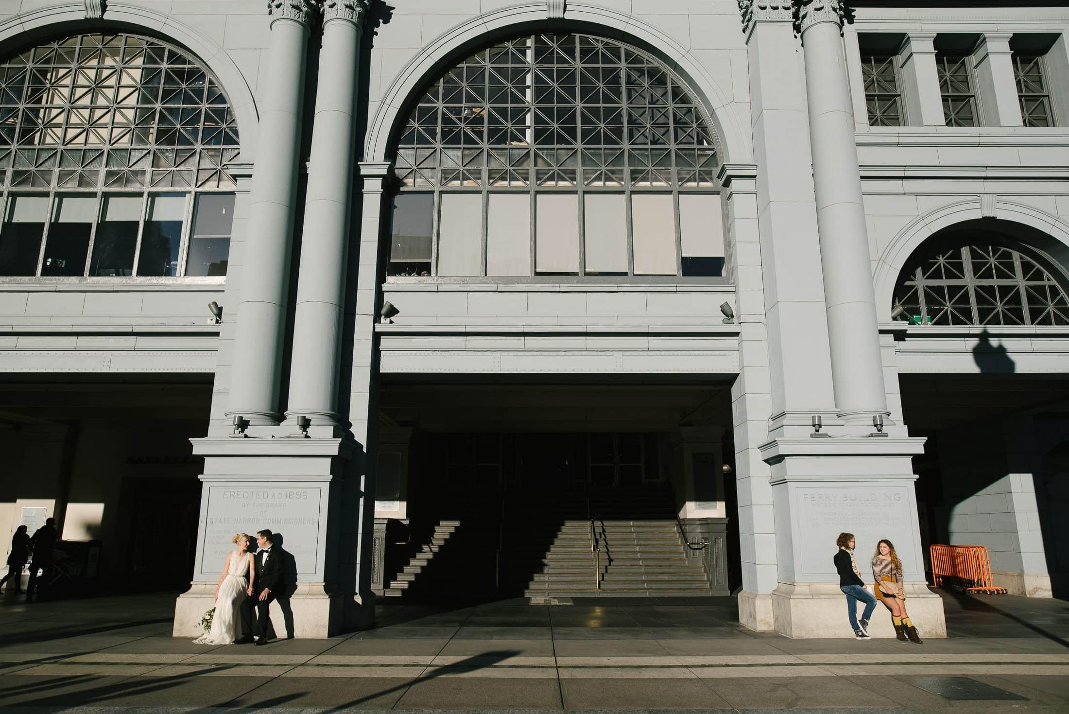 Ferry Building Wedding Portrait