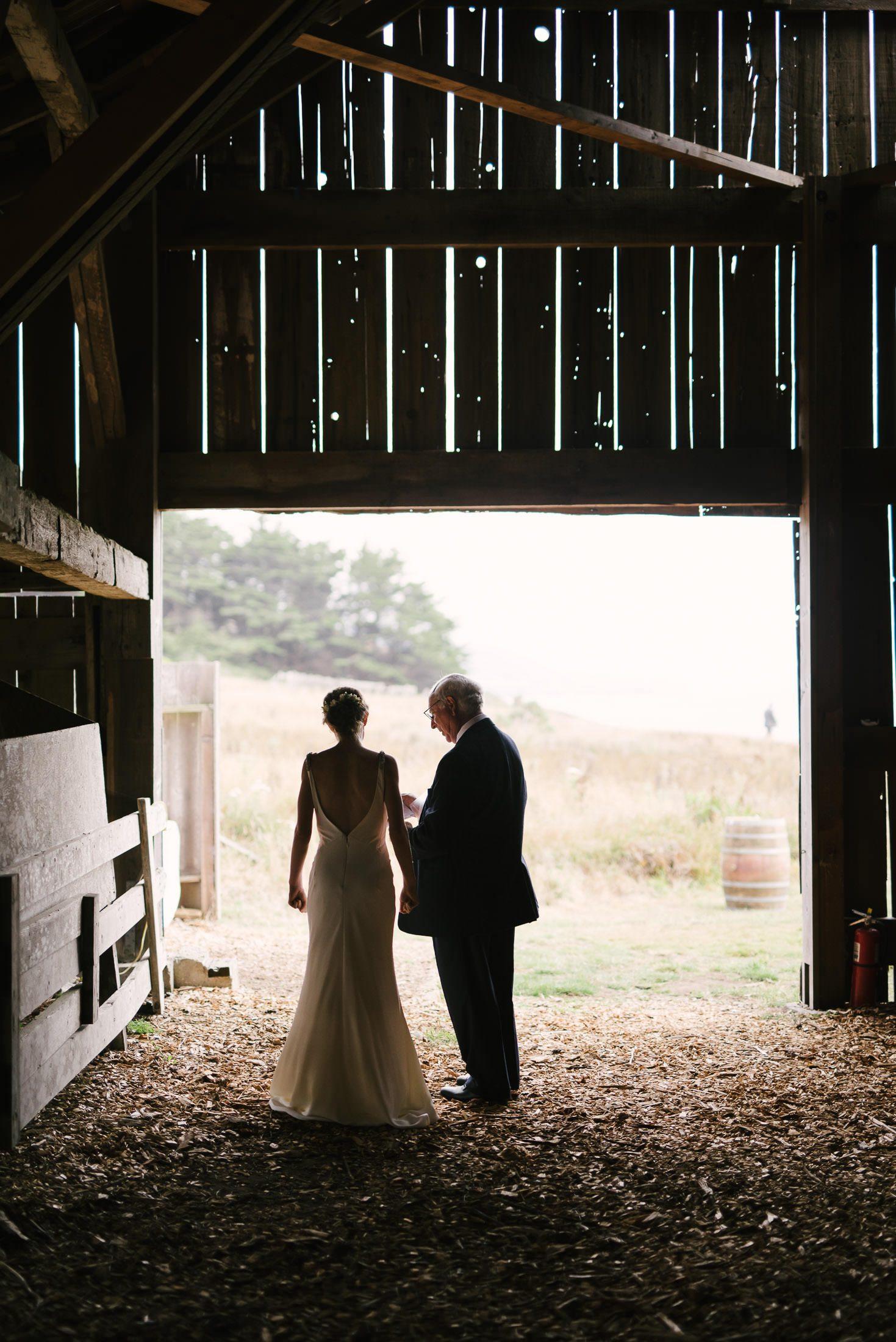 Sea Ranch Quiet moment at wedding