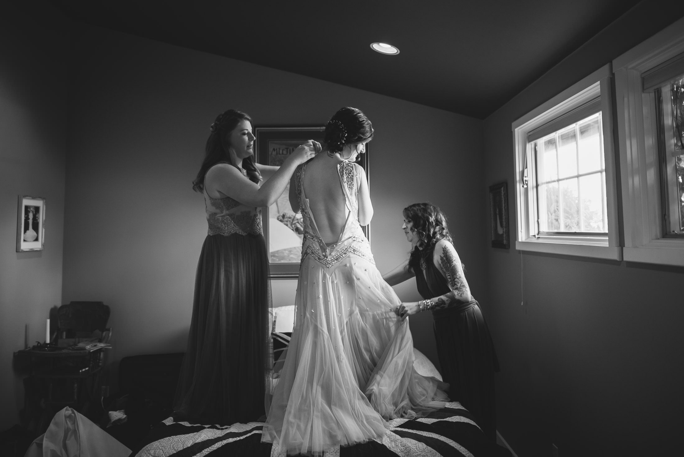 Getting Ready pic at Sebastopol wedding