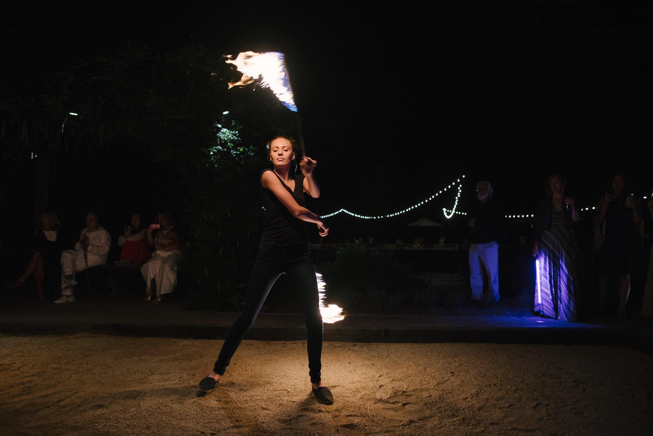 Fire Dancer at Sebastopol wedding