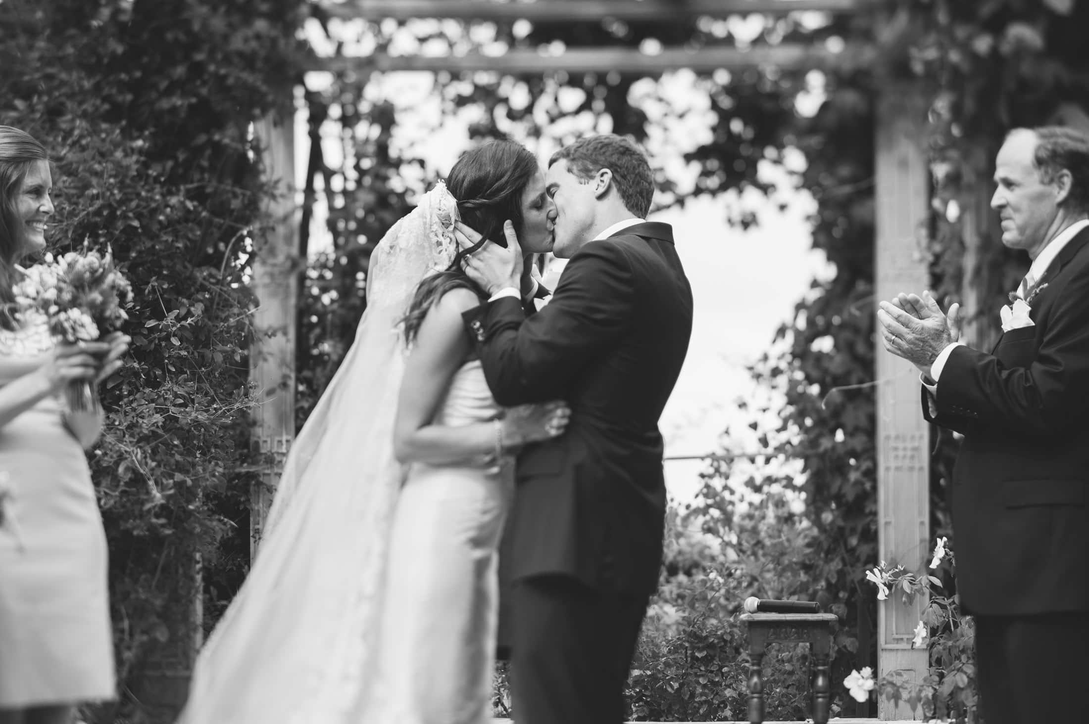 artistic shot of kiss sonoma garden pavilion wedding