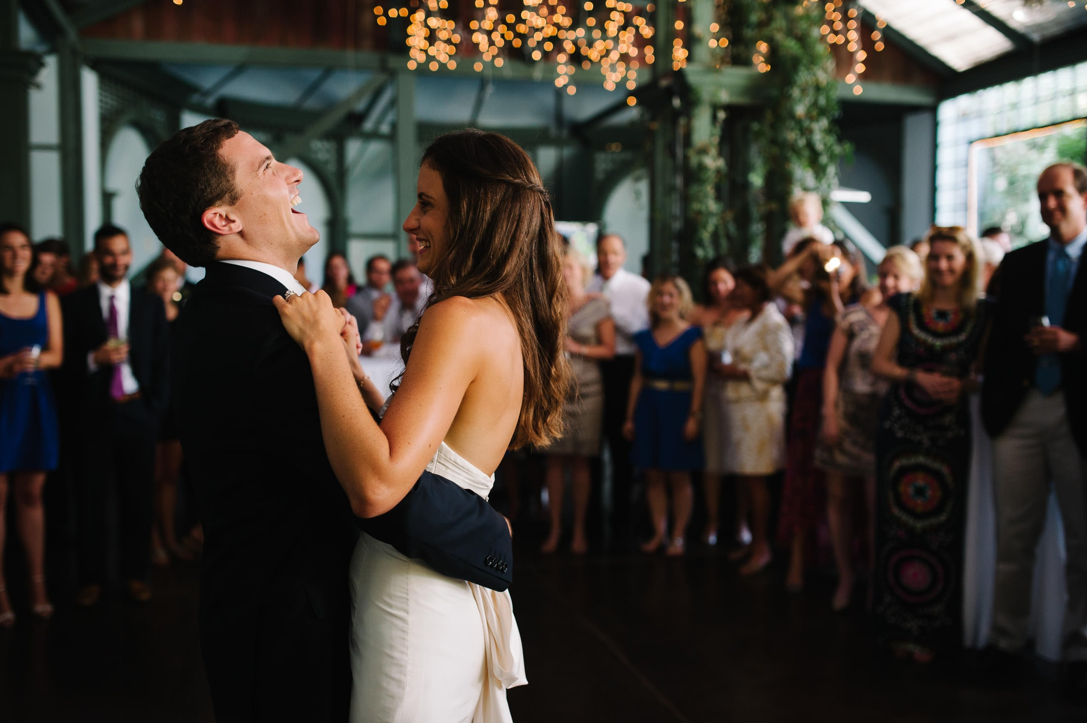 Fun dancing sonoma garden pavilion wedding