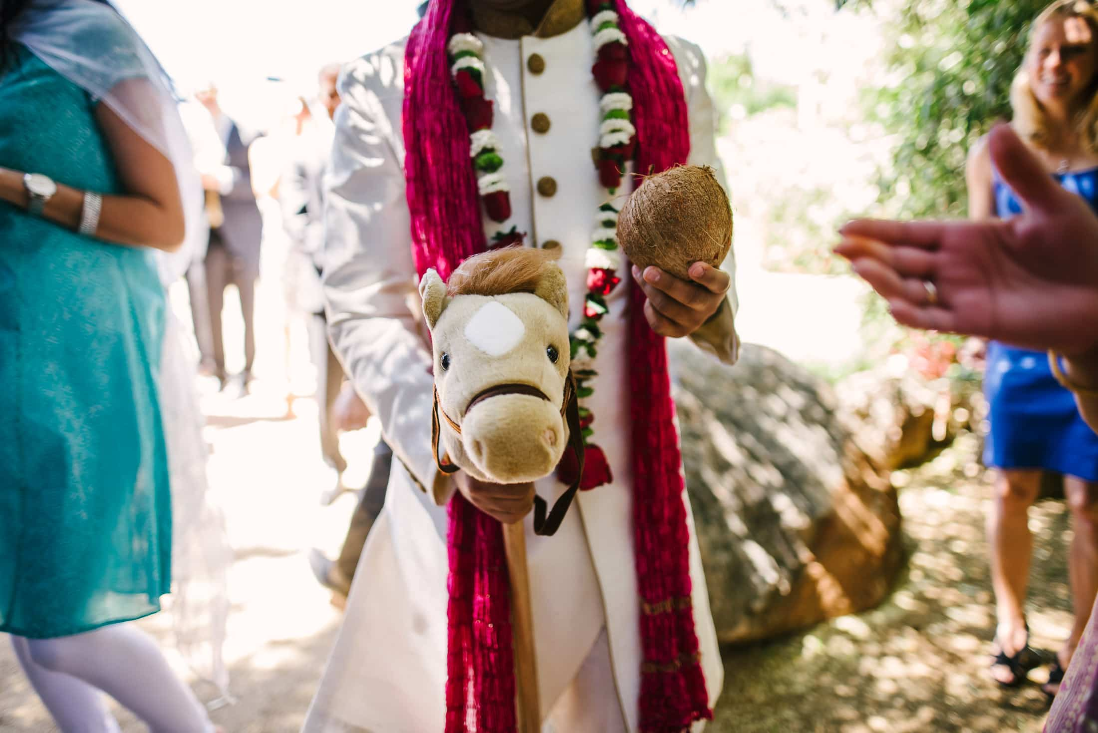 Groom with horse at the Holly Farm