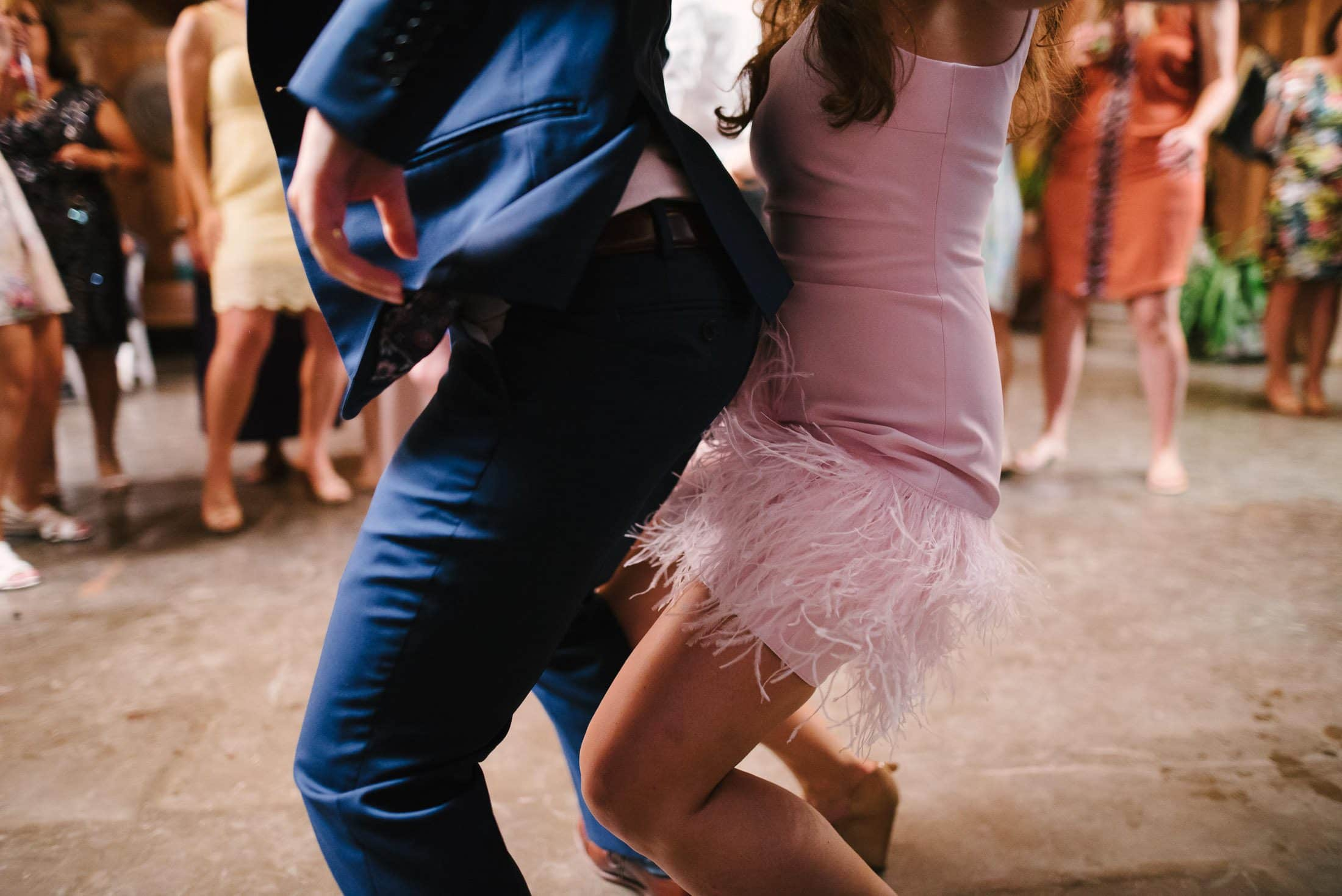 couple getting down on dance floor at the holly farm