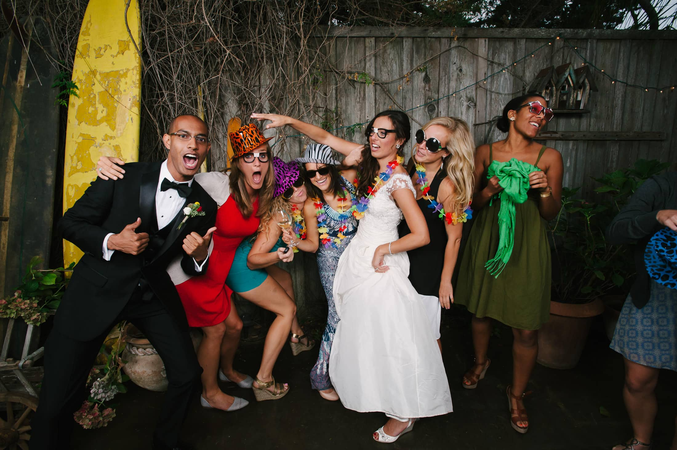 fun photo station at the holly farm wedding