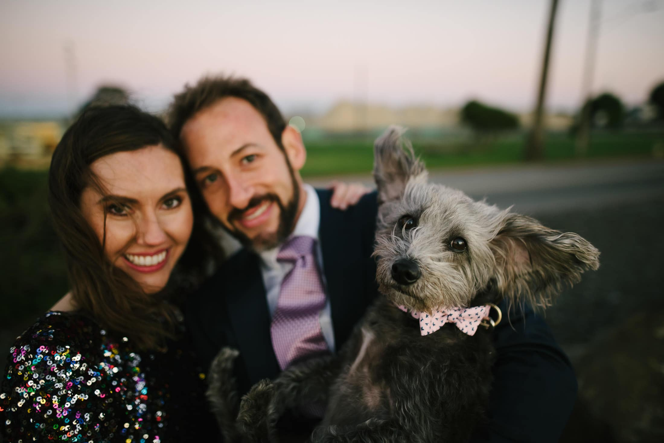 Treasure Island Engagement with Dog