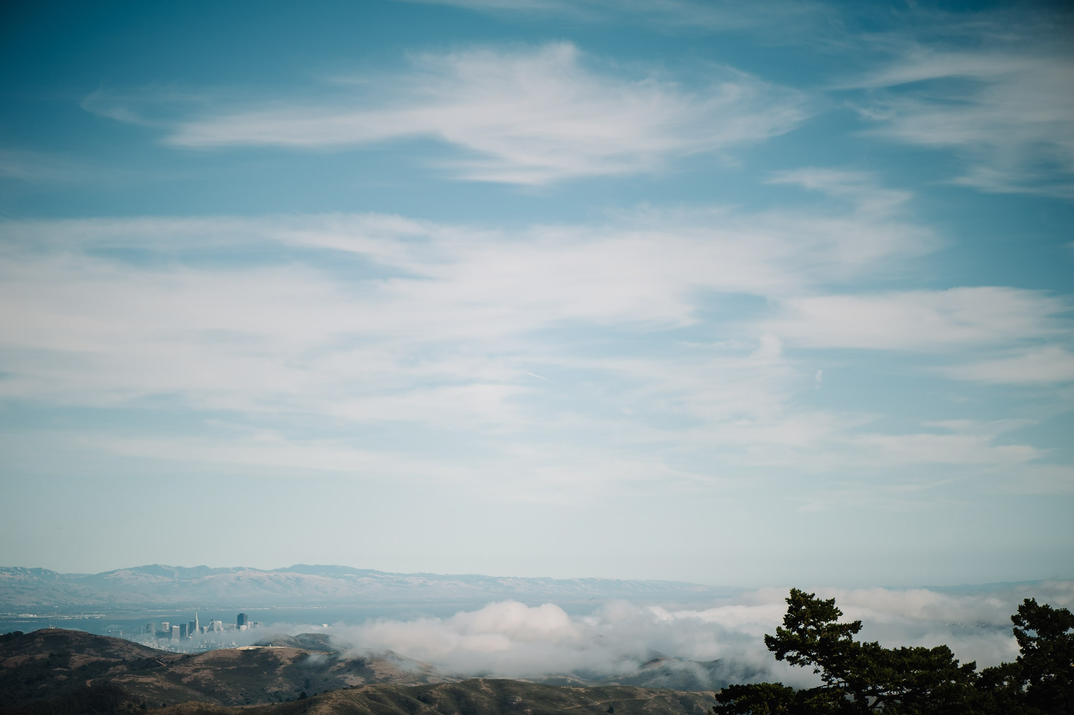 Epic view of San Francisco from Mount Tam