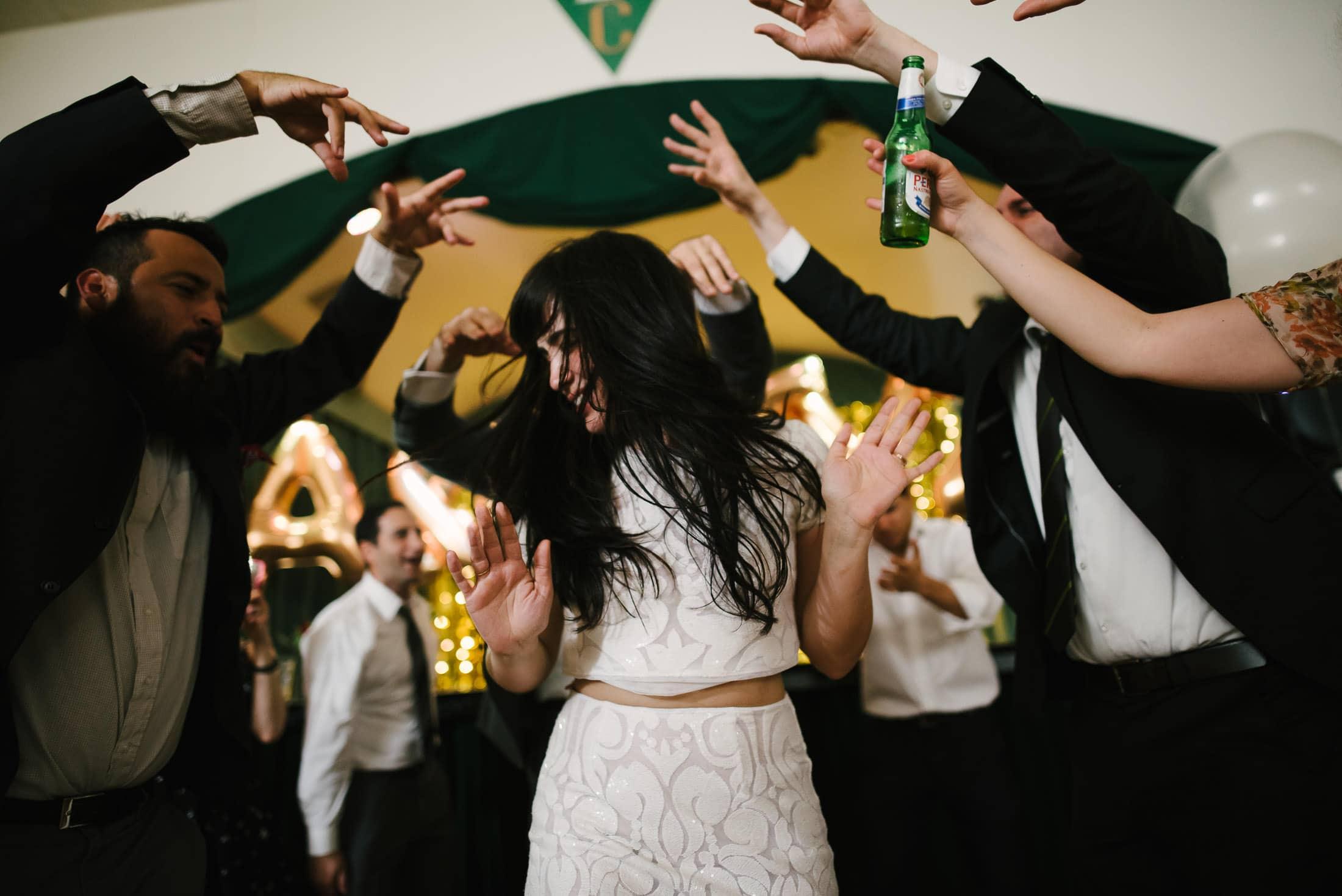 Bride Partying at the Verdi Club in San Francisco