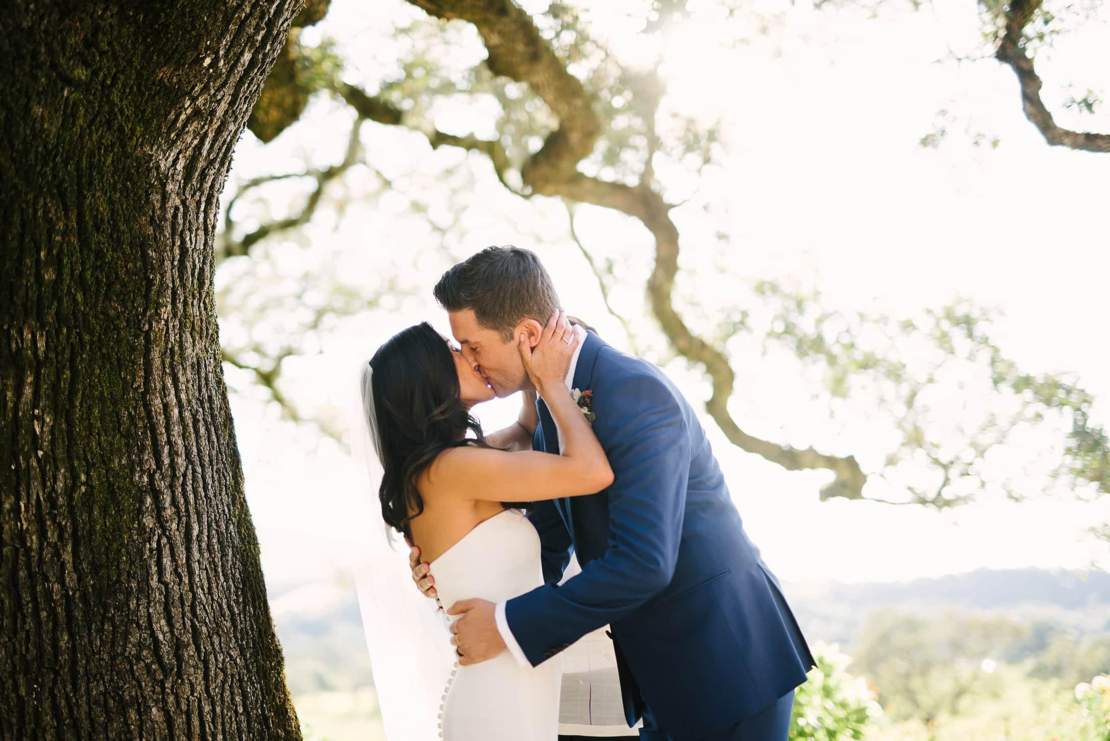 Beltane Ranch Wedding Kiss