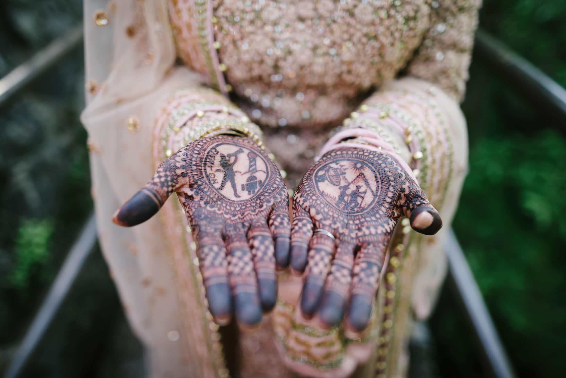 Cool Henna on Bride's Hands at Brazil Room in Berkeley