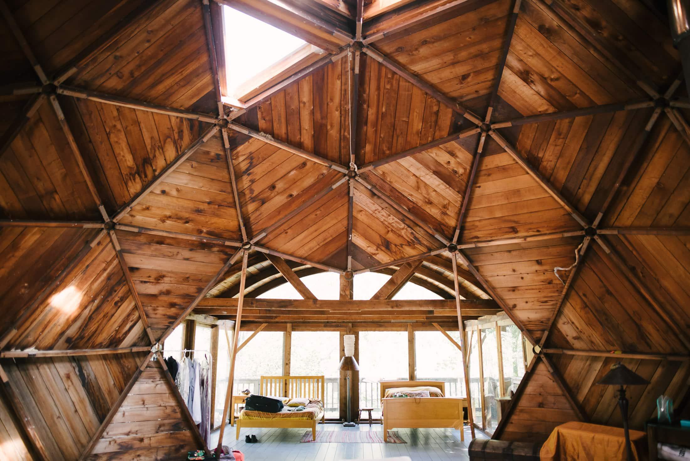Oz Farm Domes inside