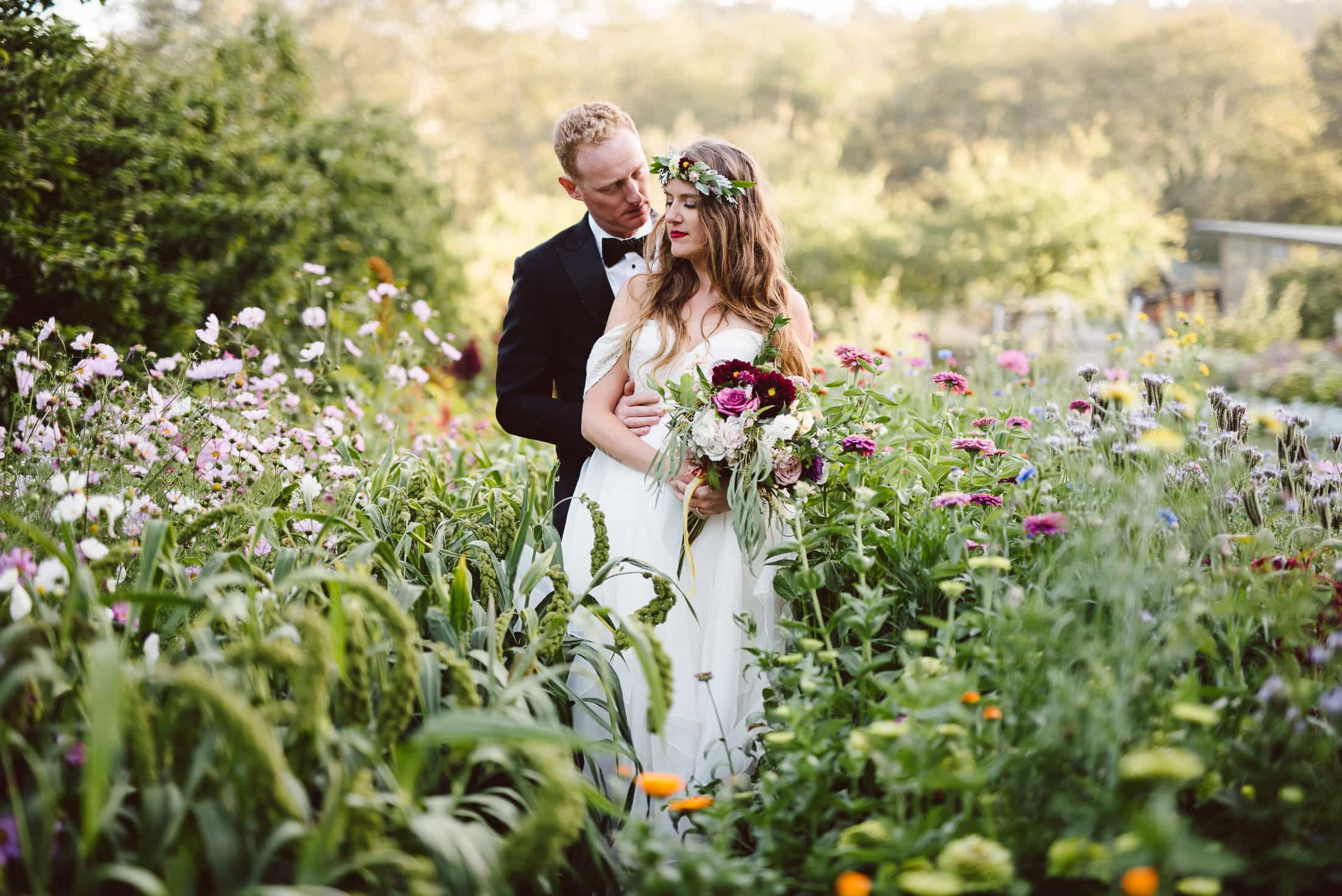 Oz Farm Wedding Couple Portrait