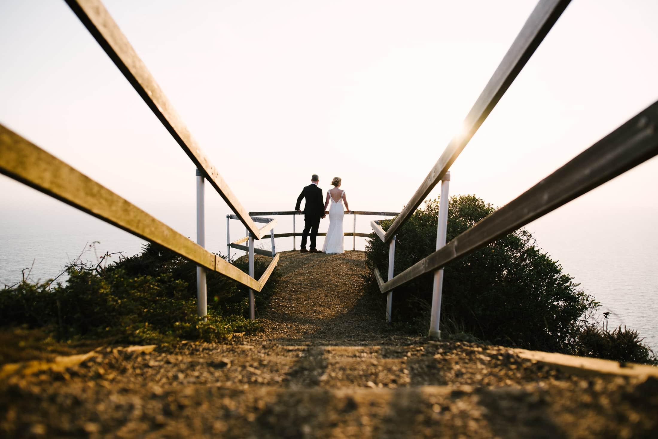 Muir Beach Lookout Wedding Portrait