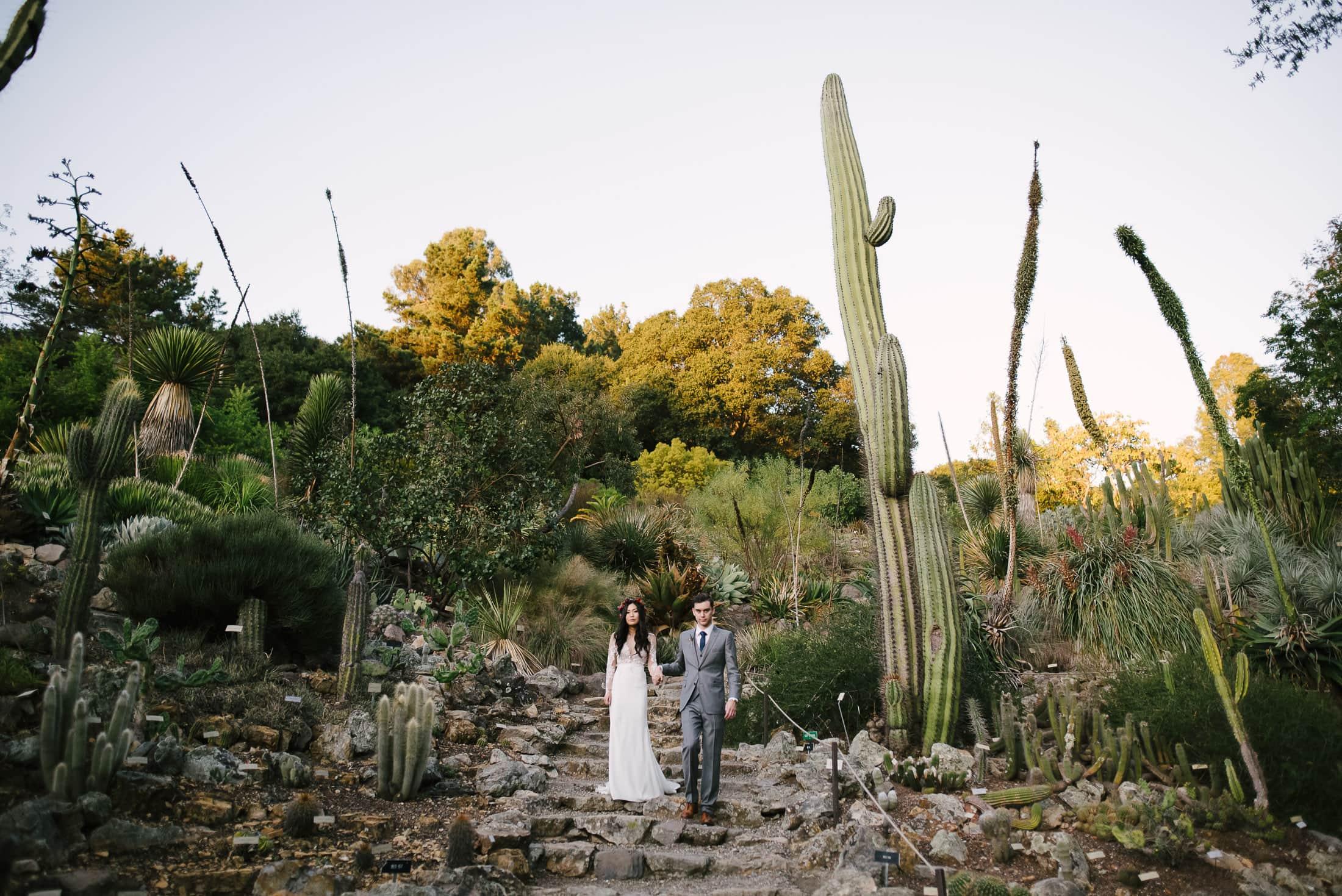 UC Botanical Gardens Wedding Portrait