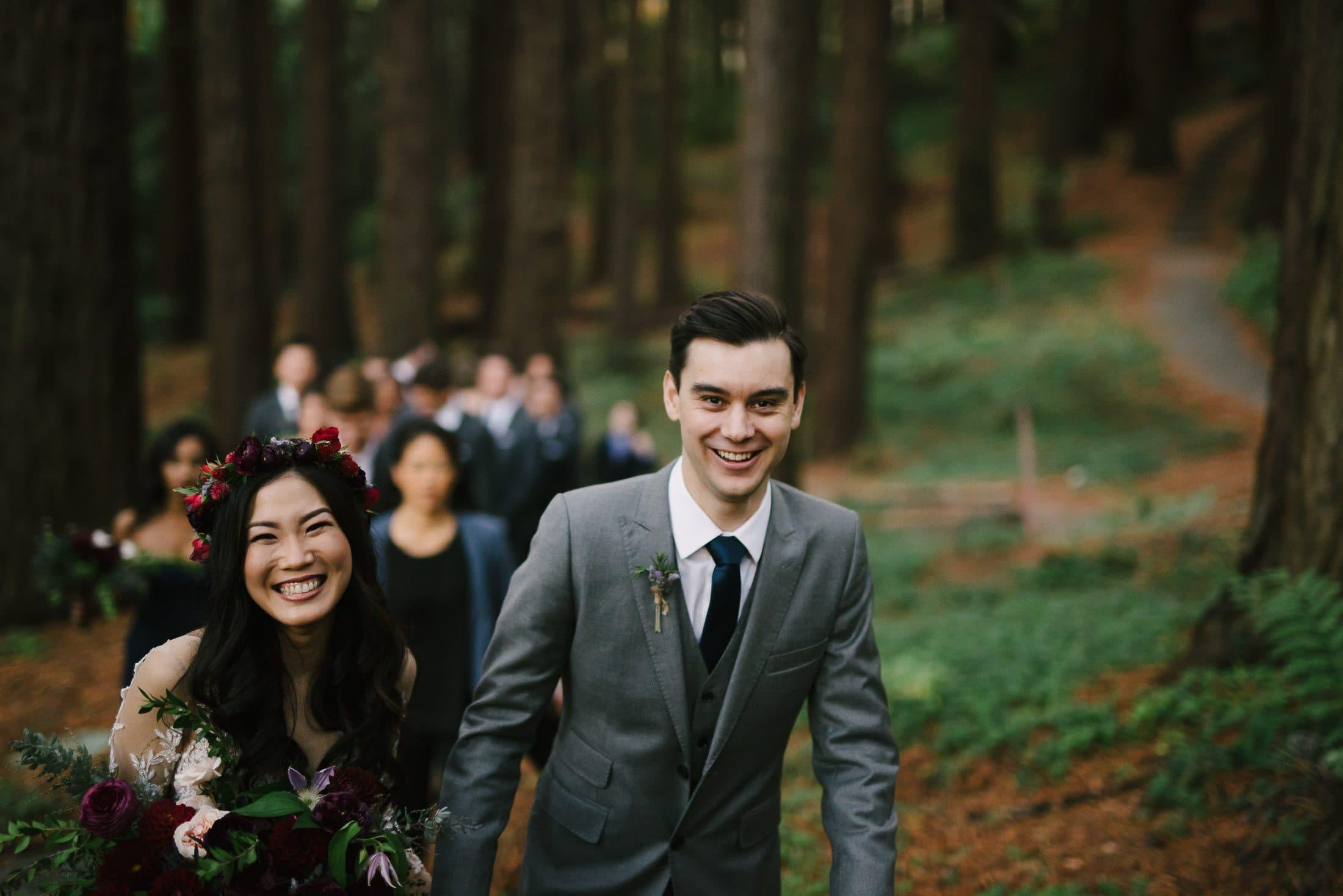 UC Botanical Gardens Wedding Redwood Grove Ceremony