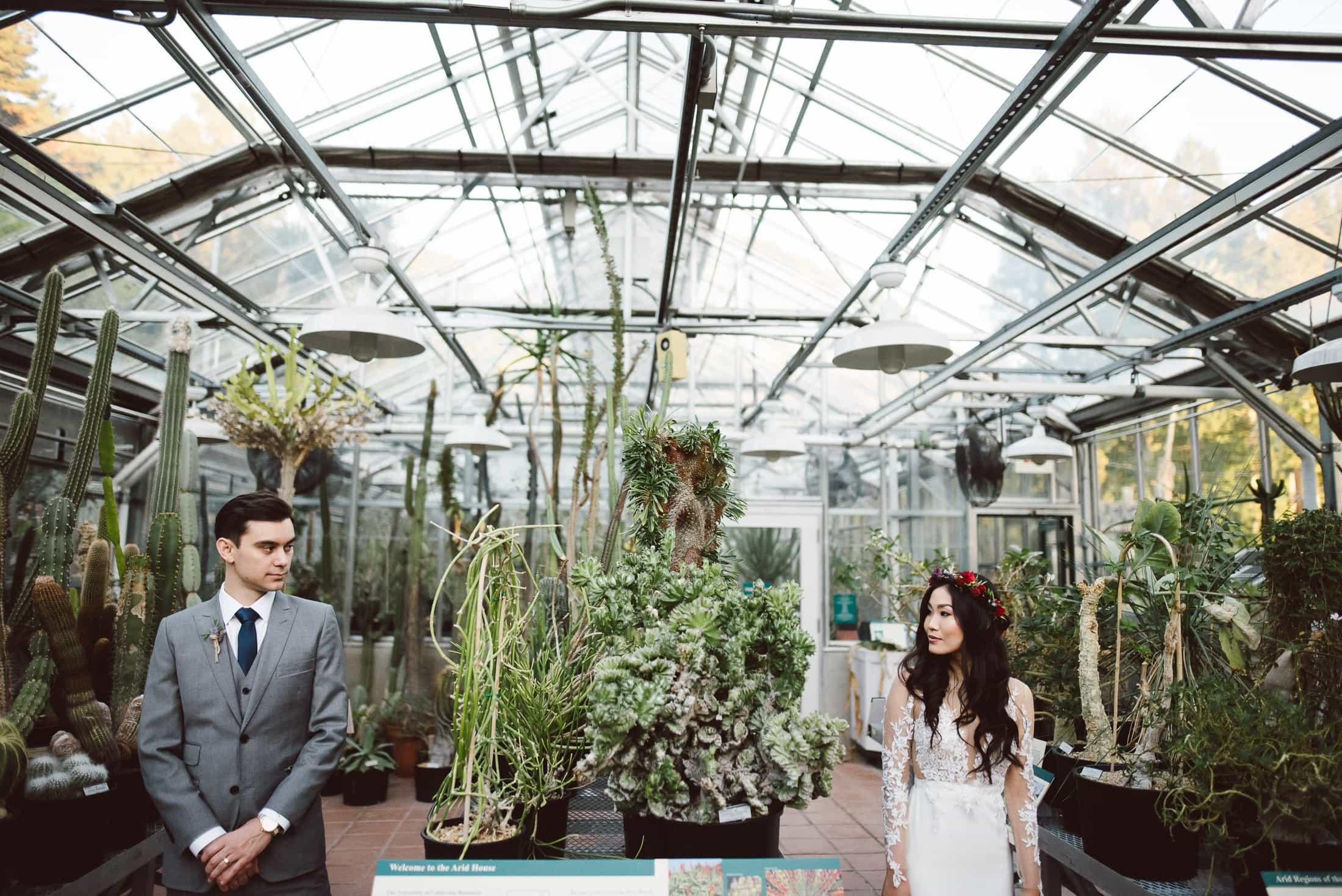 Berkeley Botanical Garden Wedding Cactus Garden