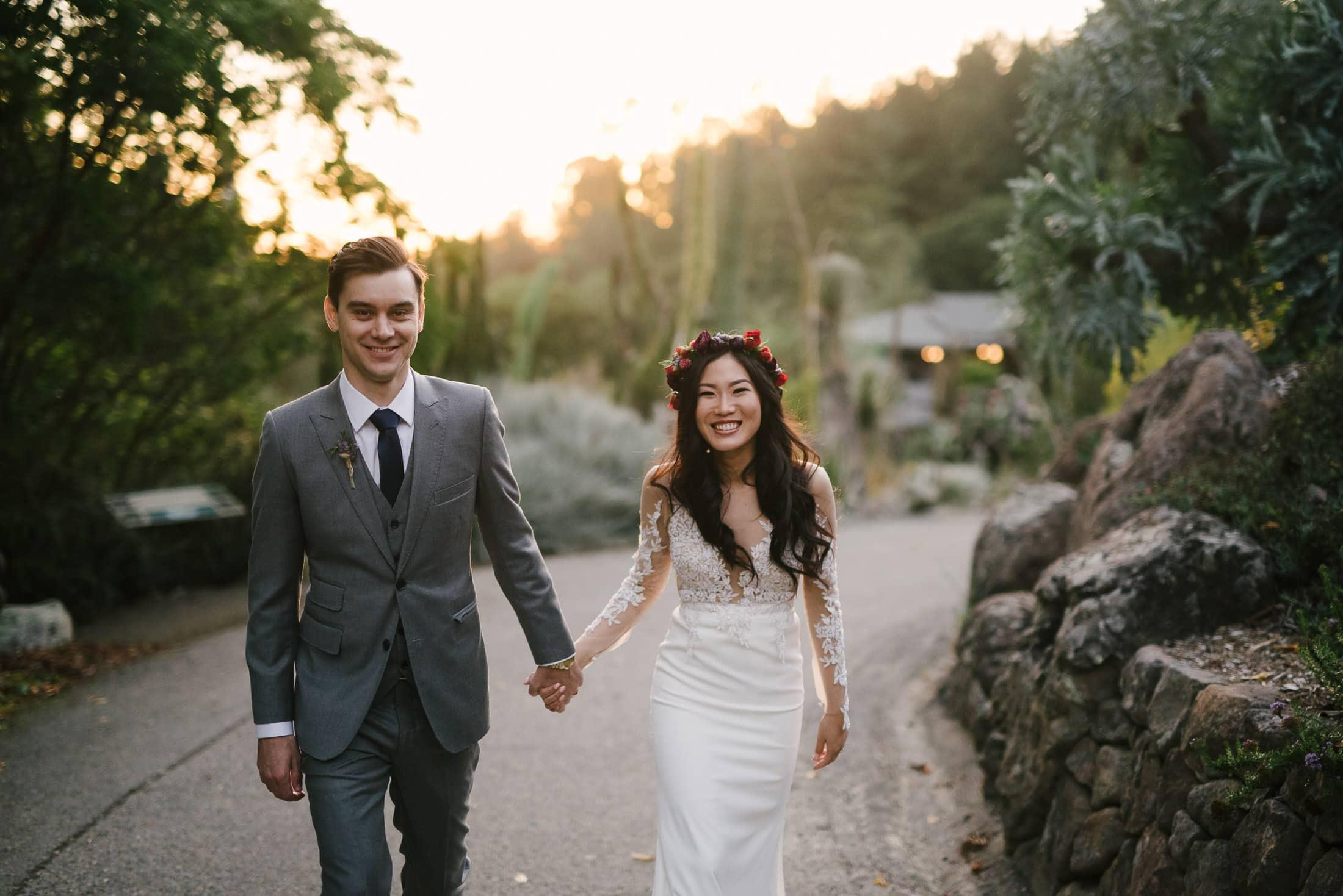 Berkeley Botanical Garden Wedding Portrait