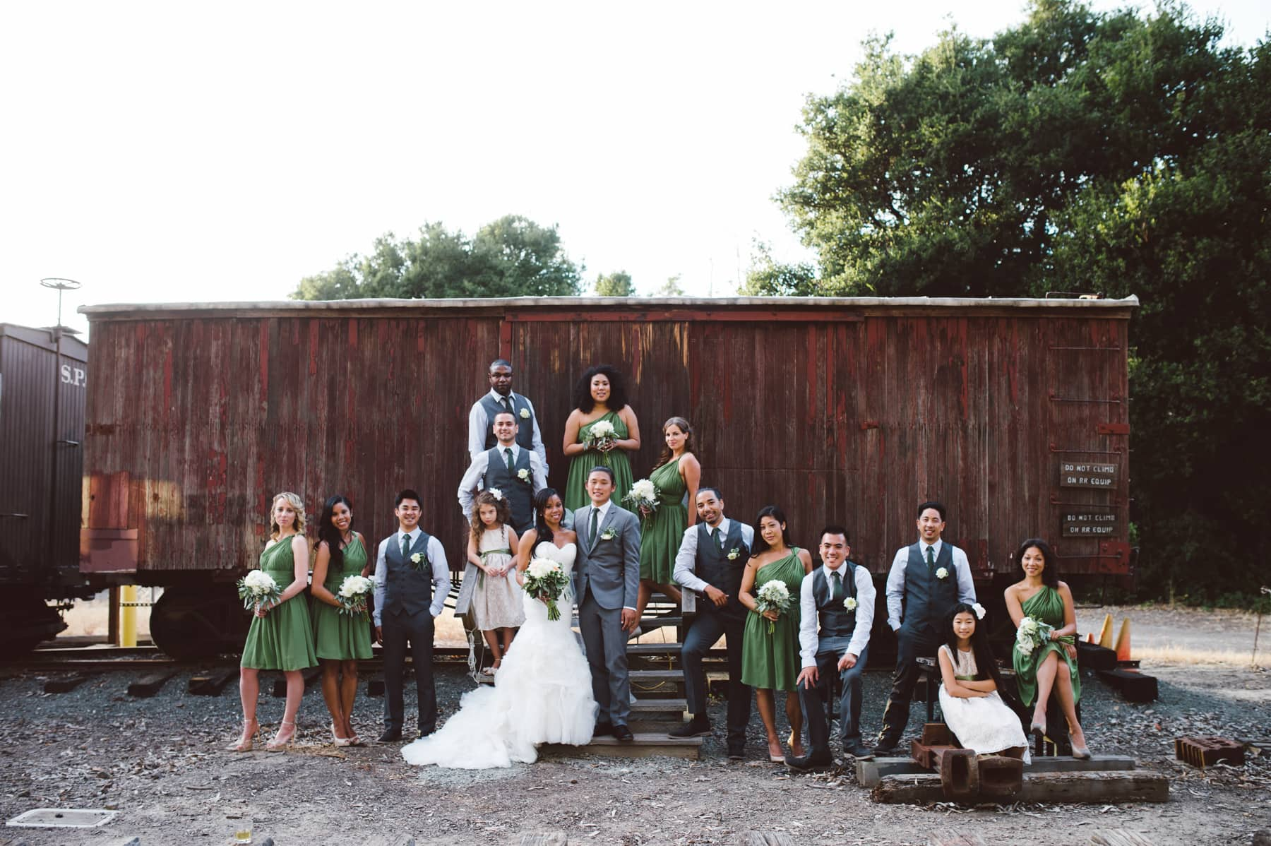 Ardenwood Farm Wedding Party Portrait