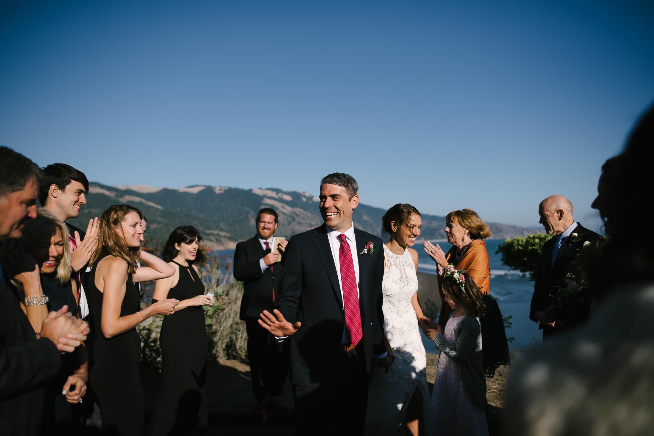Bolinas Wedding overlooking lagoon