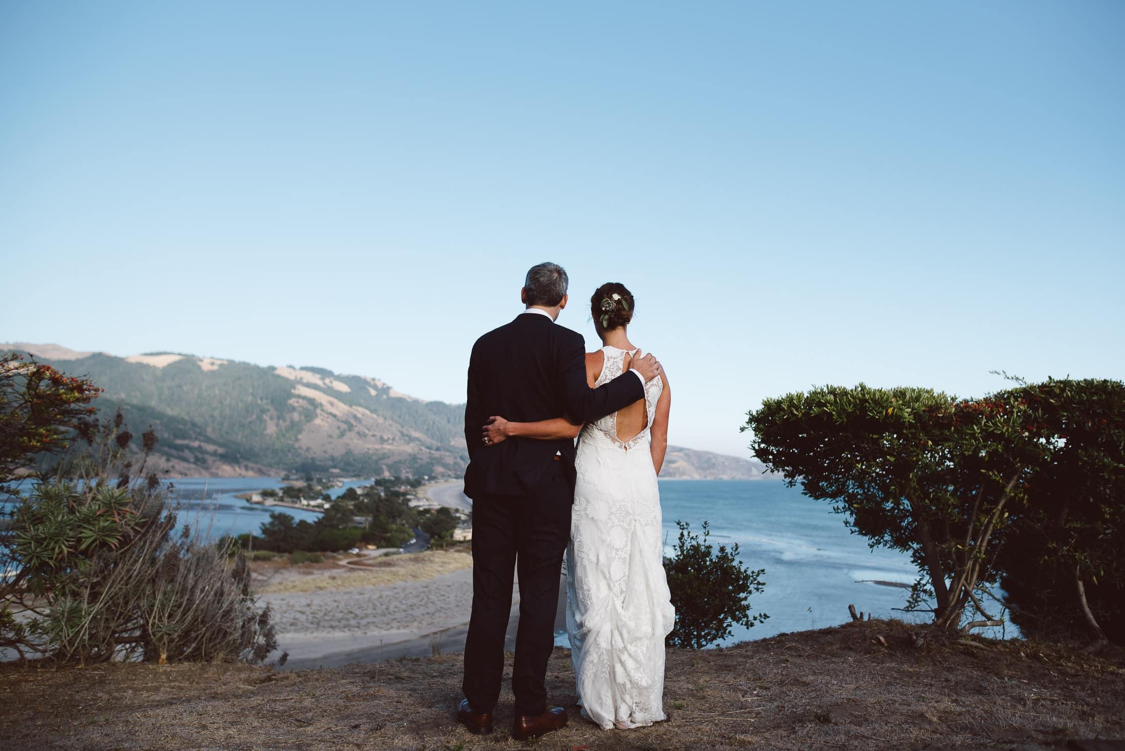 Bolinas Wedding overlooking lagoon