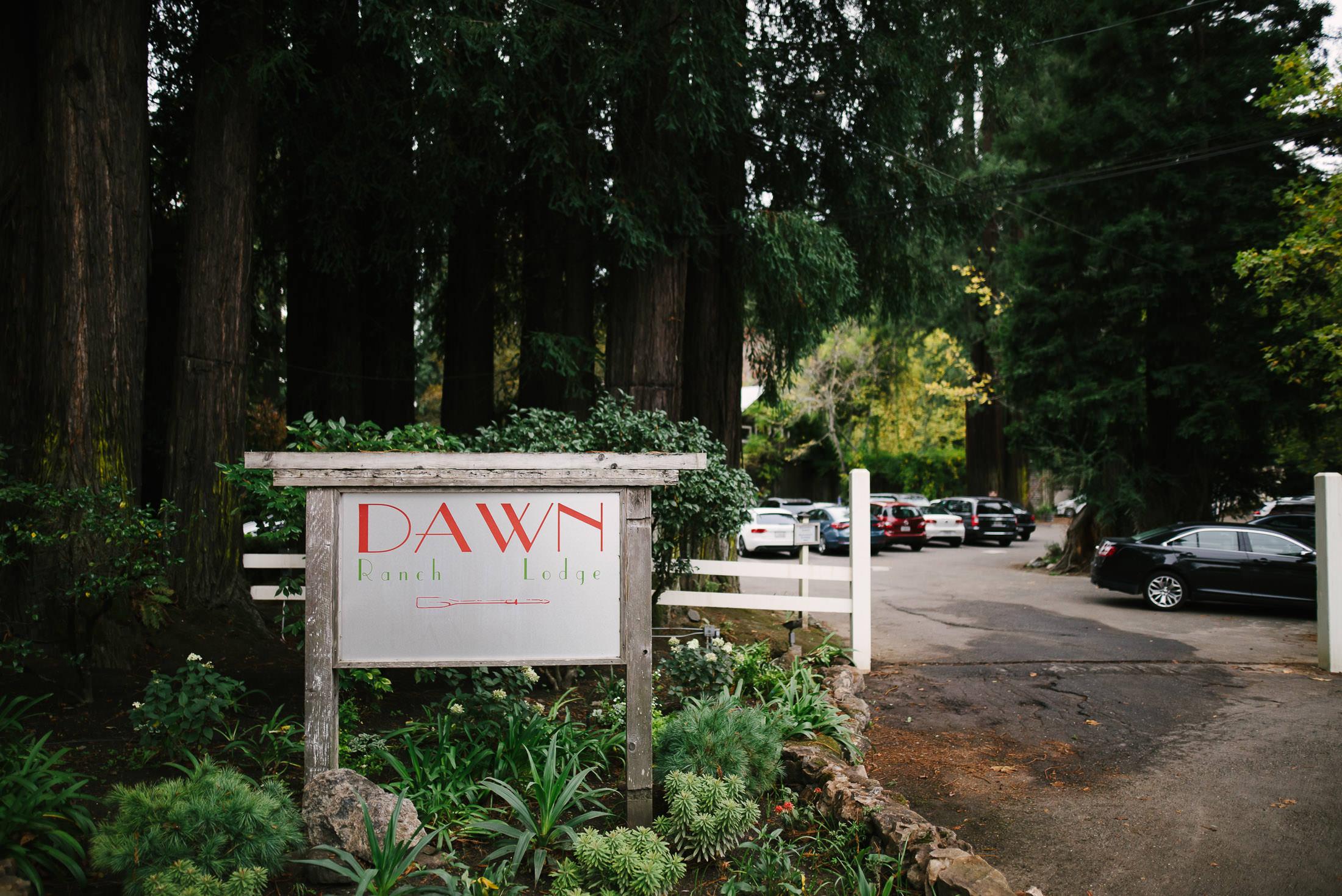 Dawn Ranch Wedding entrance