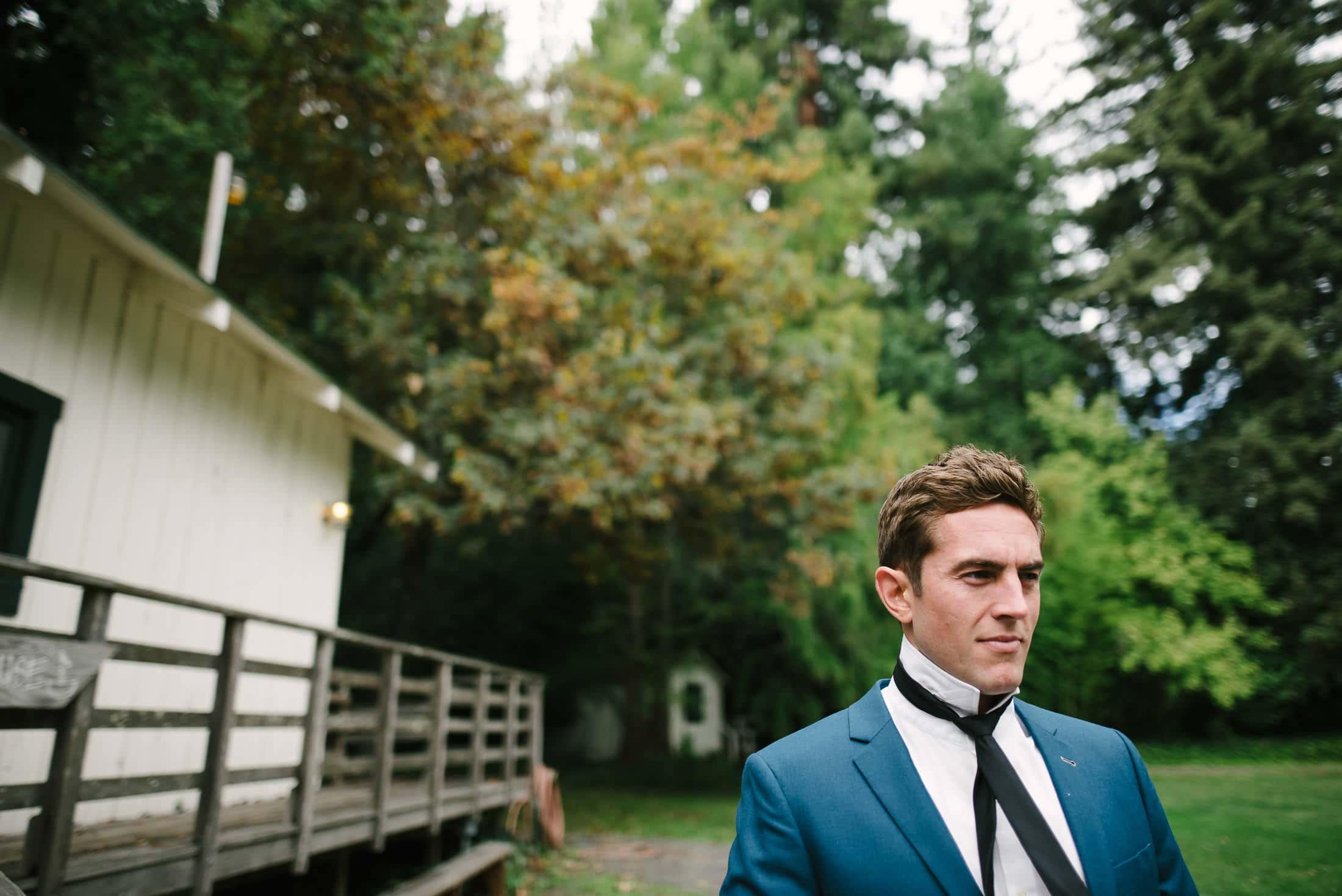 Dawn Ranch Wedding groom getting ready