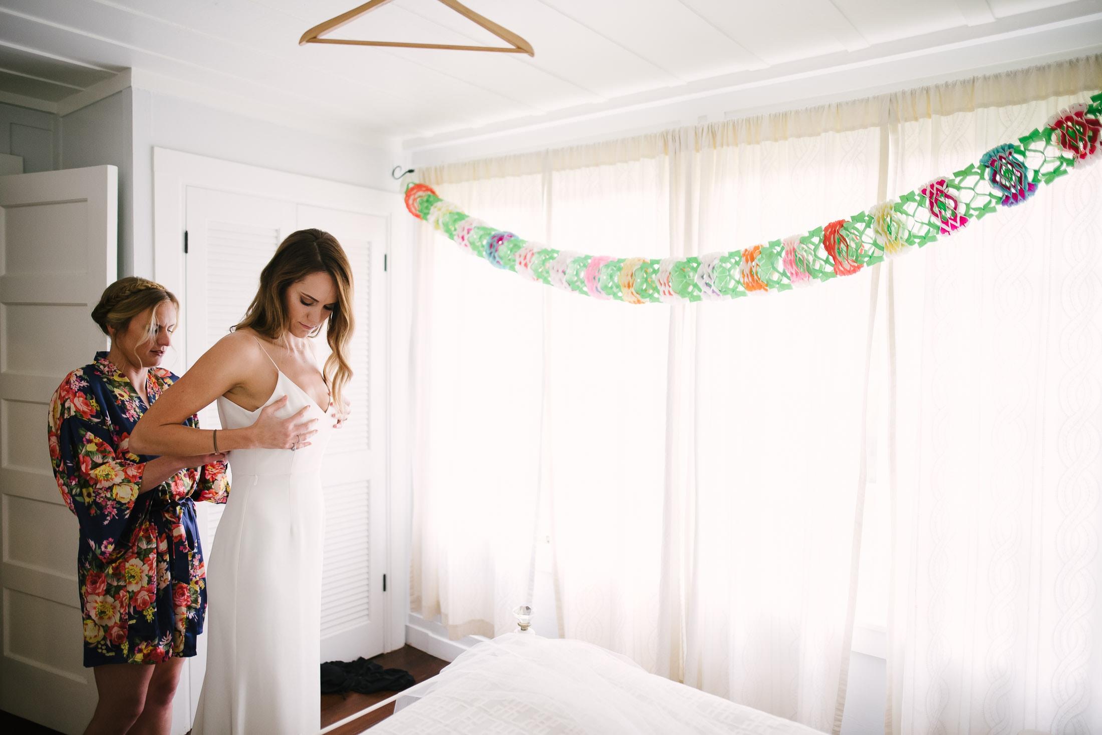 Dawn Ranch Wedding bride getting ready