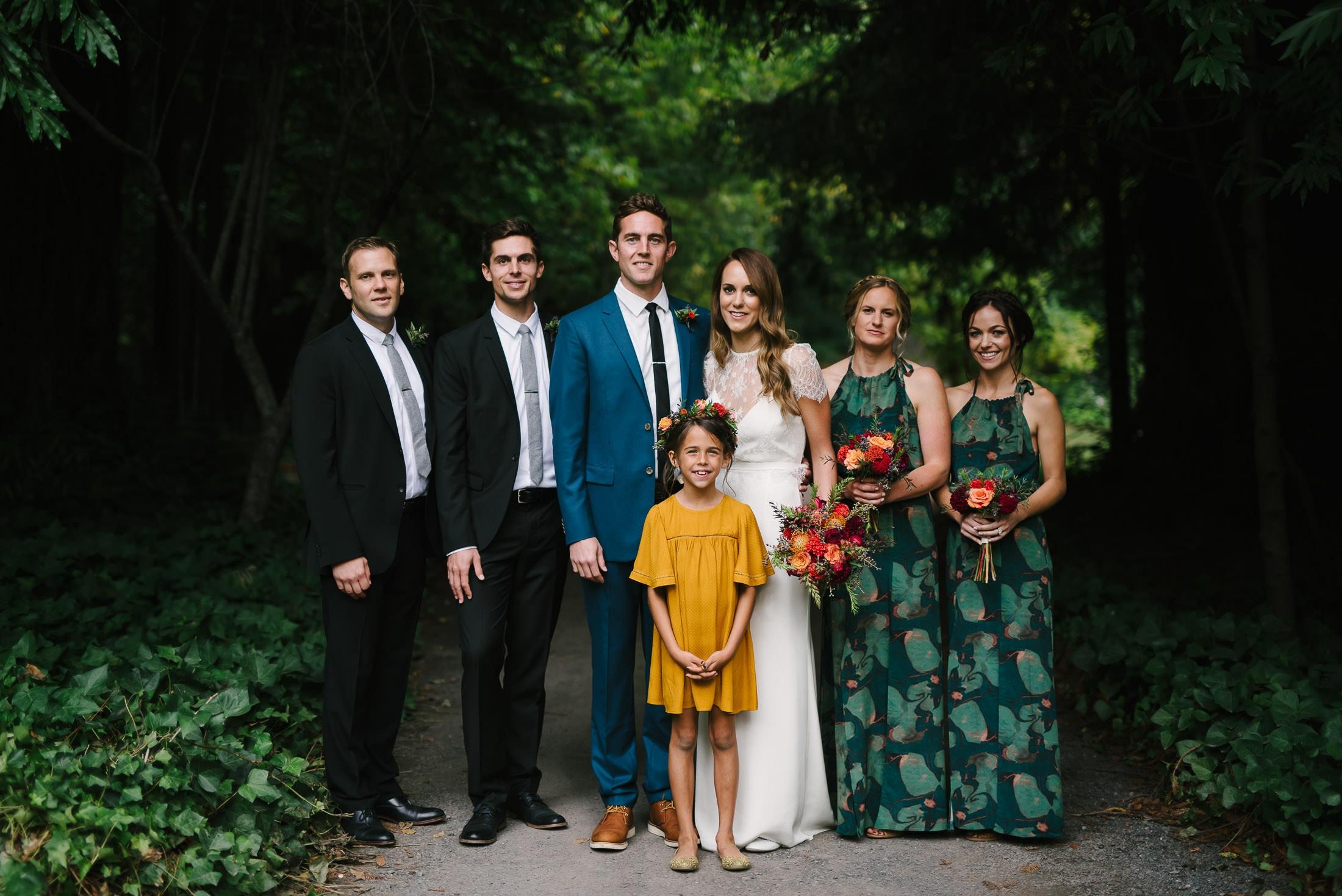 Dawn Ranch Wedding party portrait