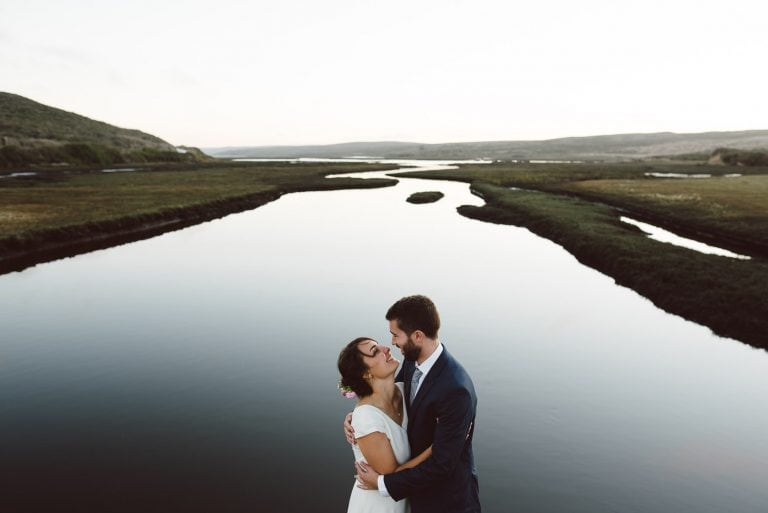 Epic Images of Couple embracing in Point Reyes