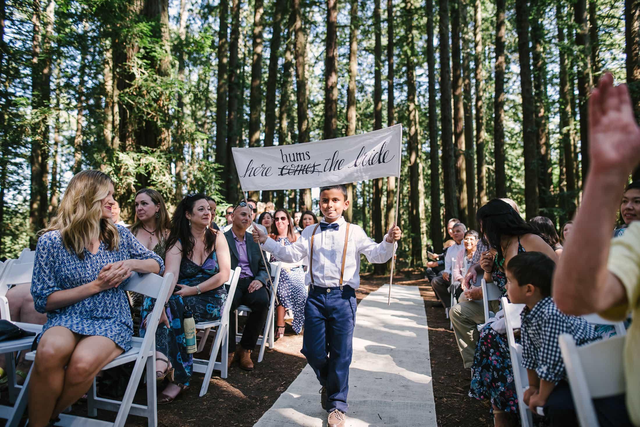 Roberts Regional Recreation Wedding goofy ceremony