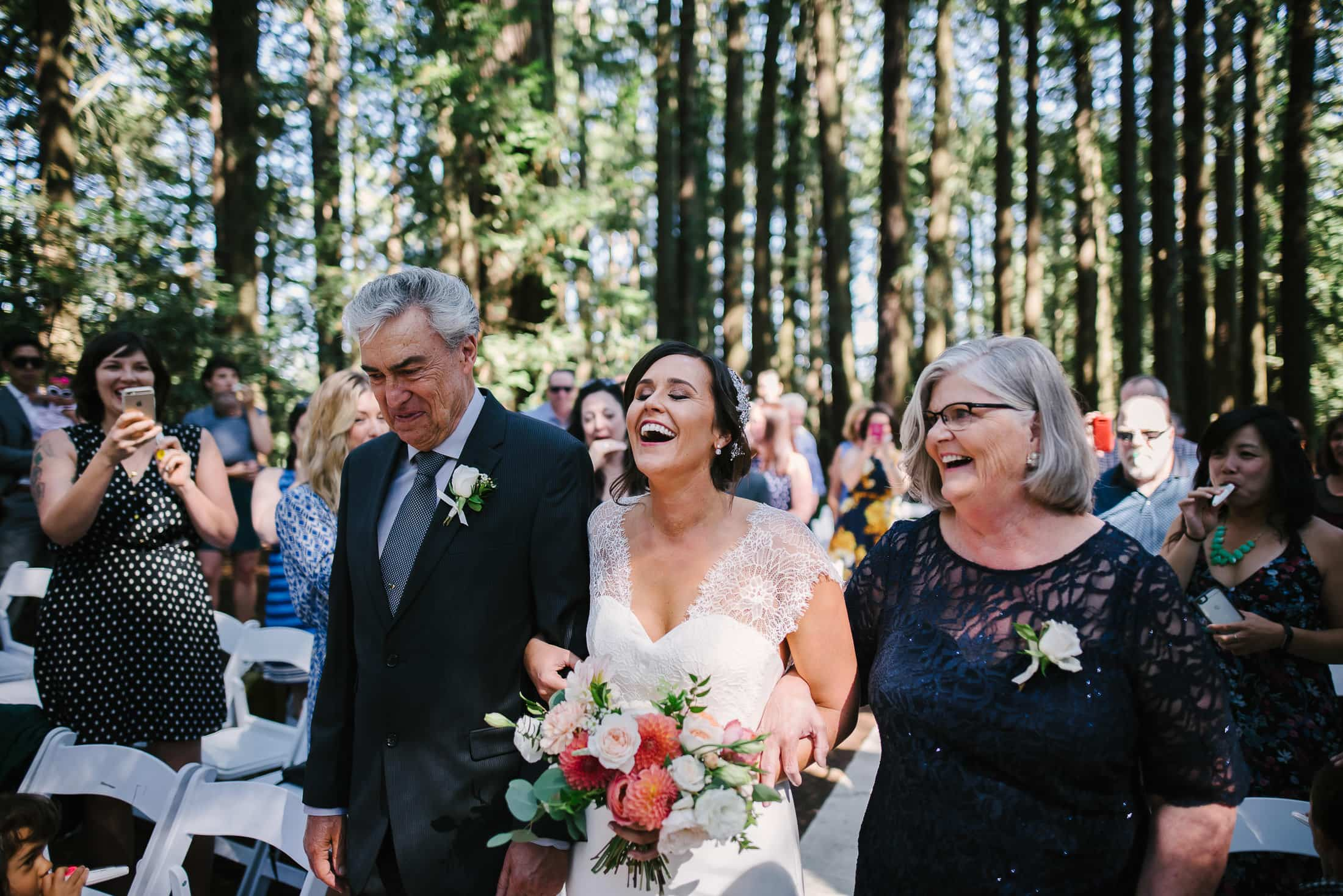 Roberts Regional Recreation Wedding laughing bride