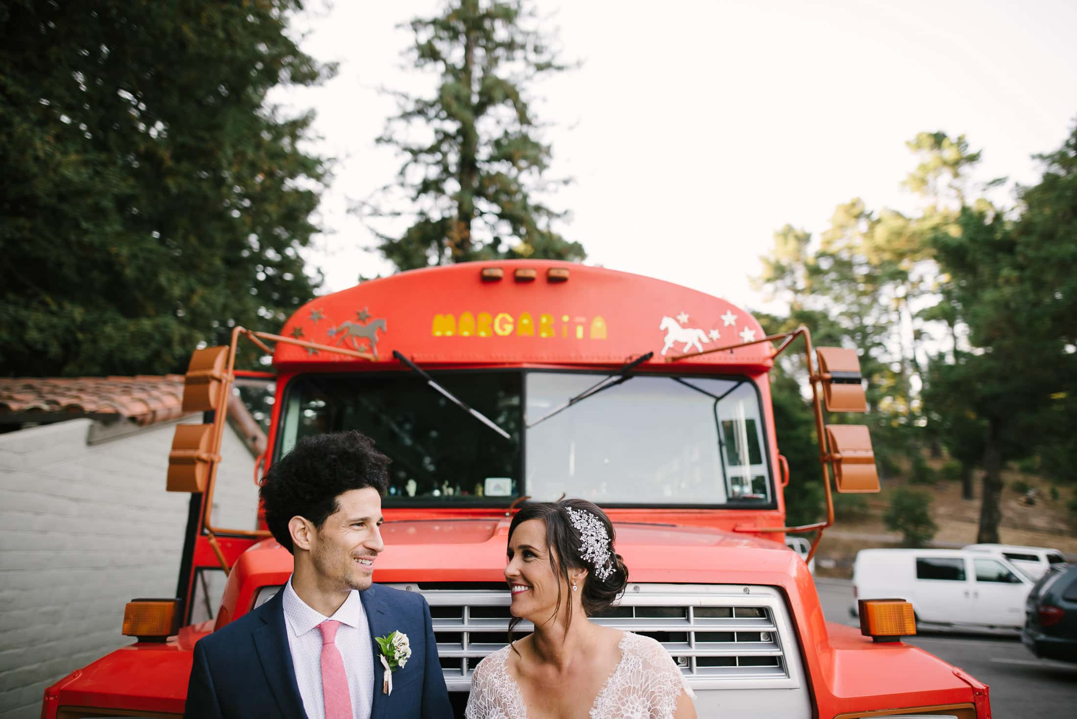 Roberts Regional Recreation Wedding with mexican bus