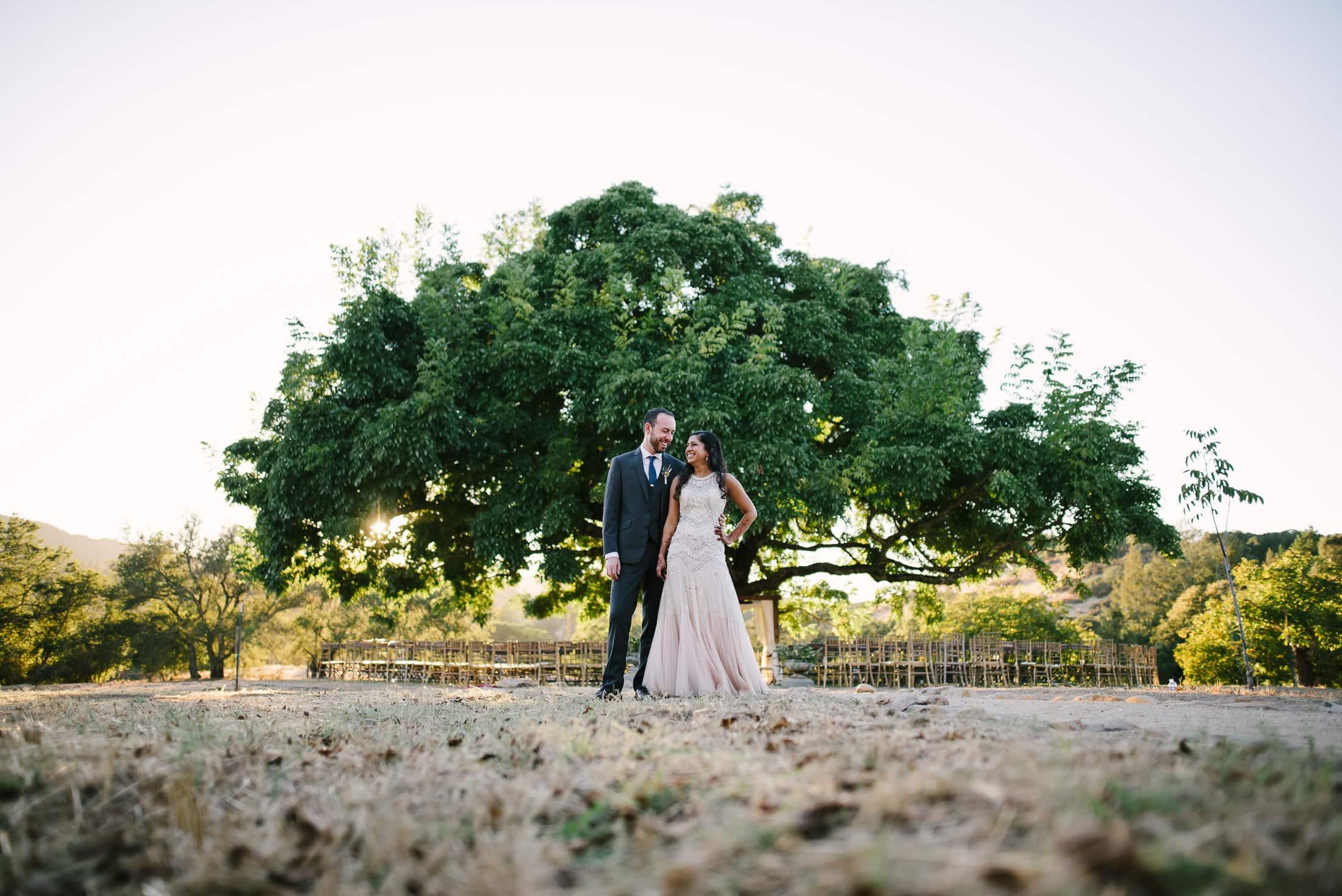 Indian Jewish Triple S Ranch Wedding Portrait with Walnut